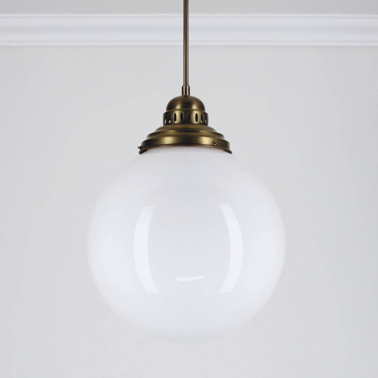 Large Brass Deco Globe Ceiling Lamp/ Light 35cm.