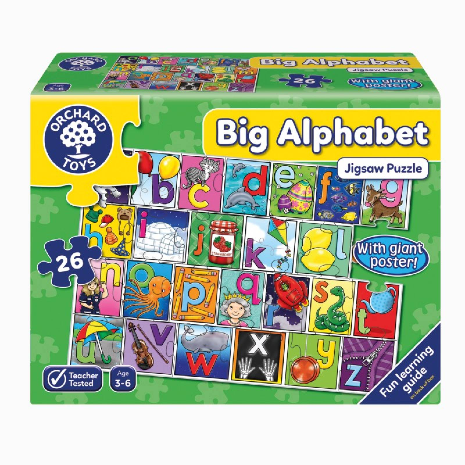 Big Alphabet - 26 Piece Jigsaw Puzzle By Orchard Toys 3+