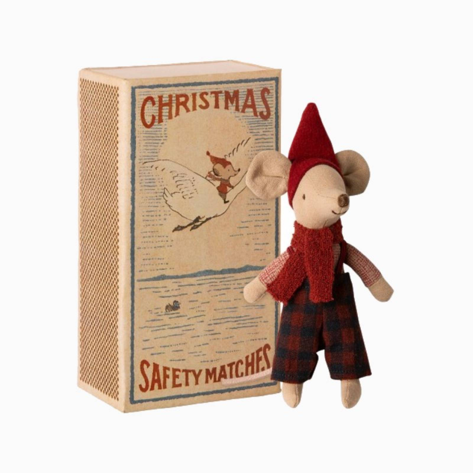 Big Brother Christmas Mouse In Matchbox 3+
