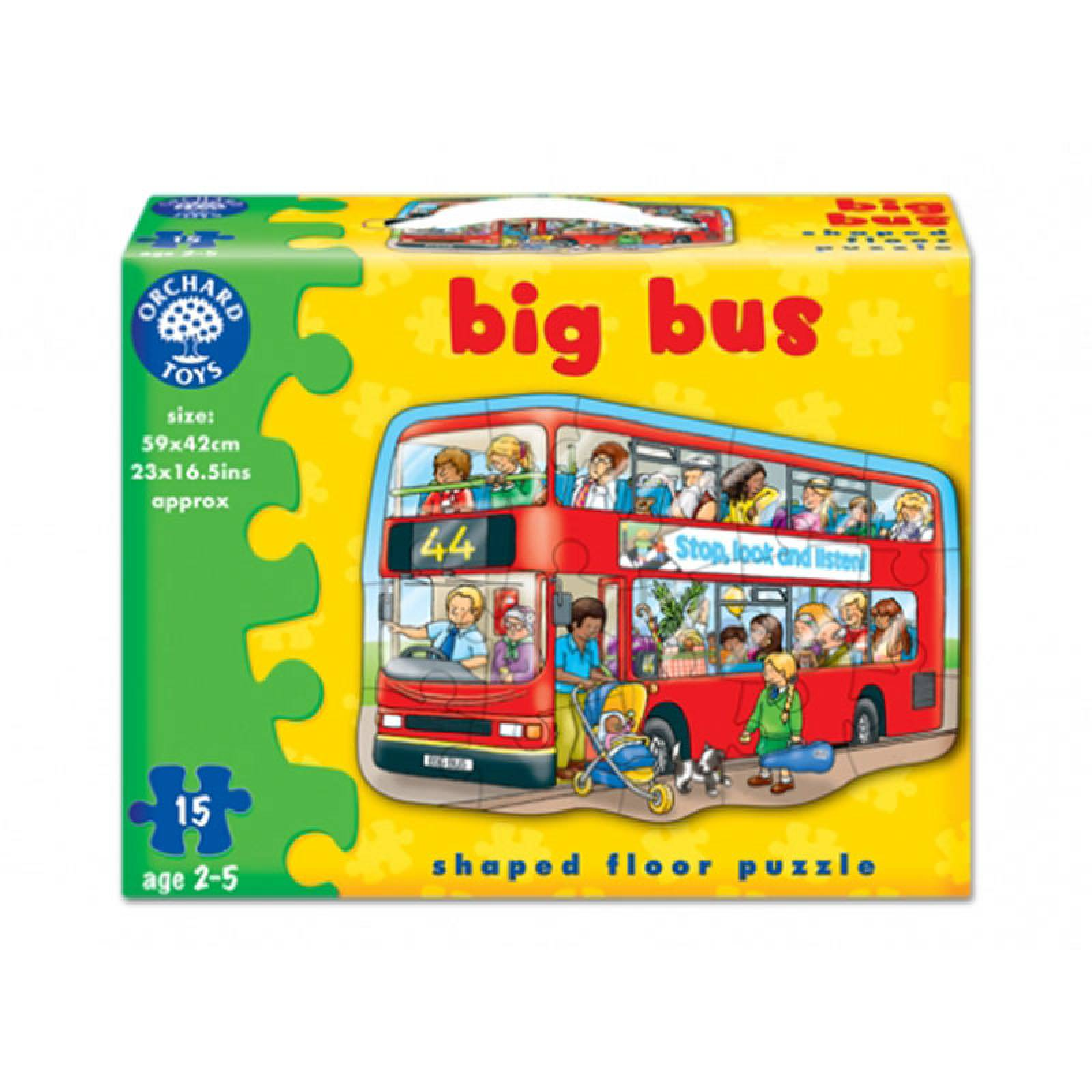 Big Bus Jigsaw Puzzle By Orchard Toys 2-5yrs thumbnails