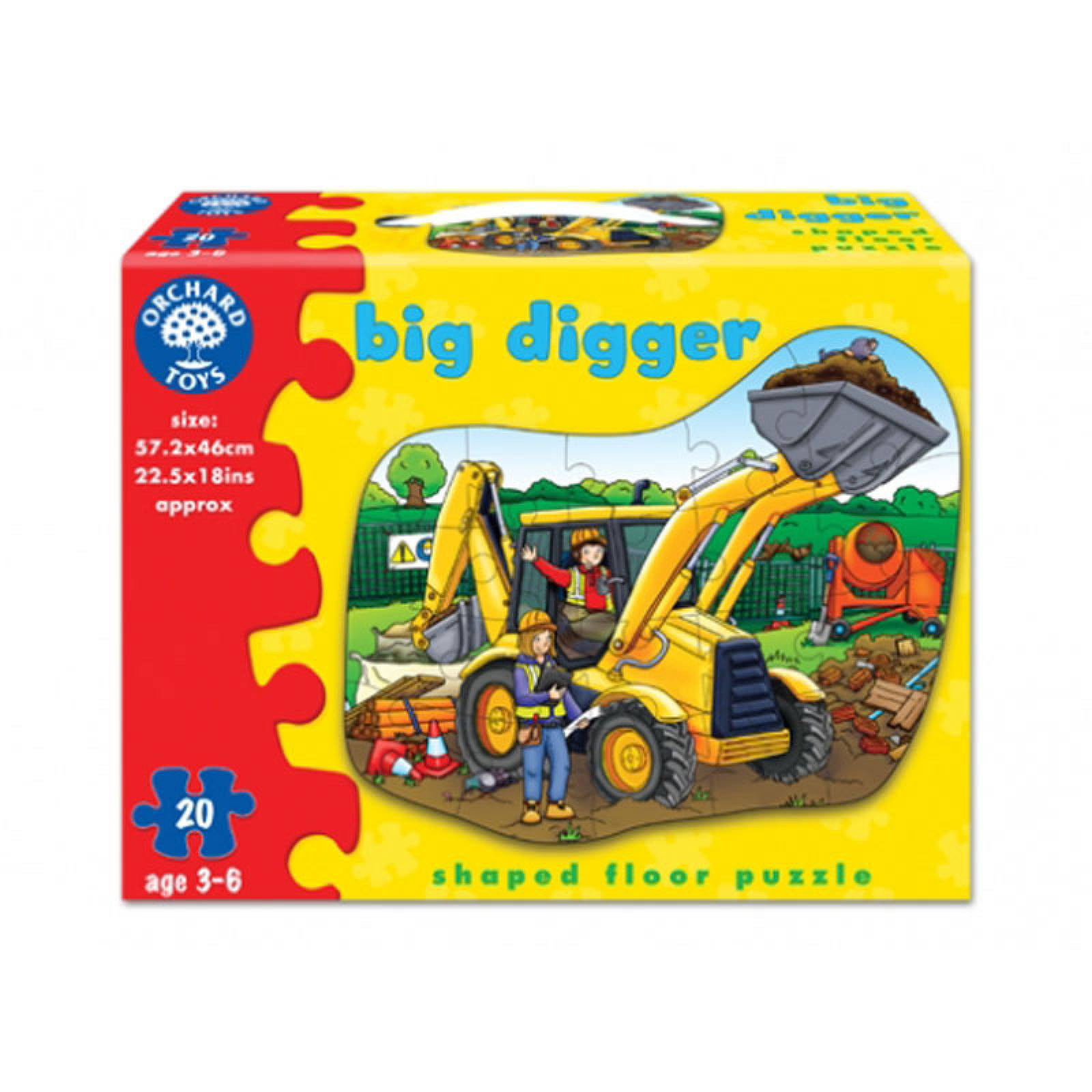 Big Digger Jigsaw Puzzle By Orchard Toys 3-6yrs thumbnails