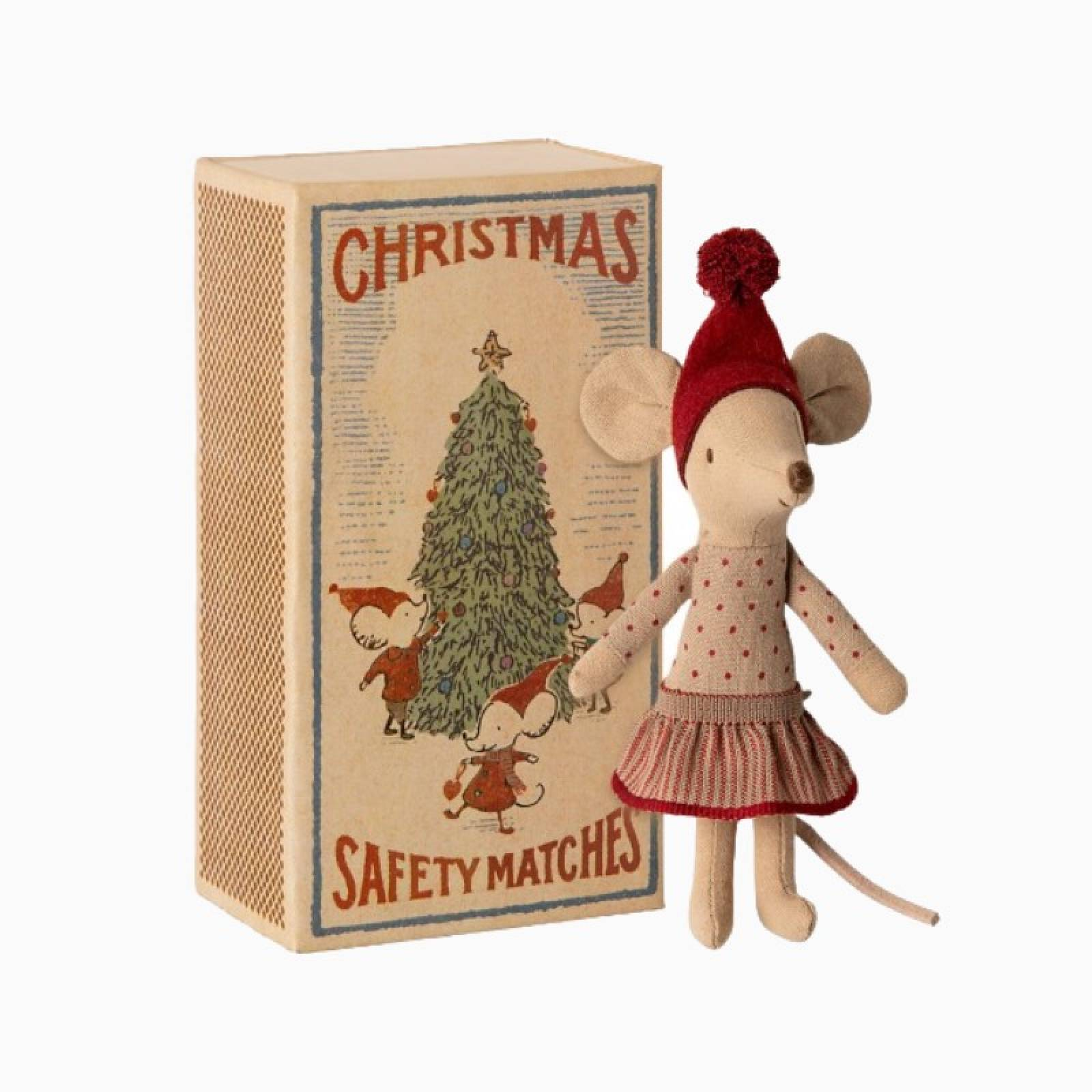 Big Sister Christmas Mouse In Matchbox 3+