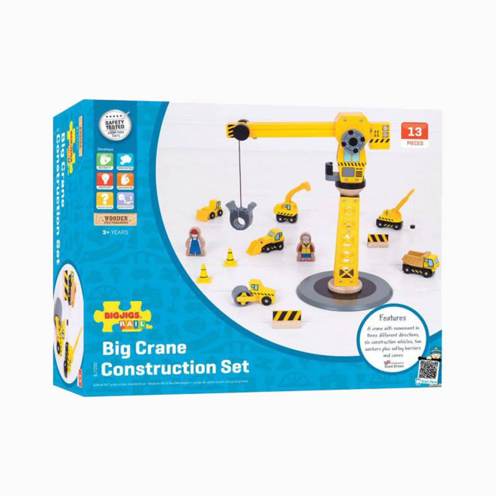 Big Yellow Crane Construction Set by Bigjigs 3+ thumbnails