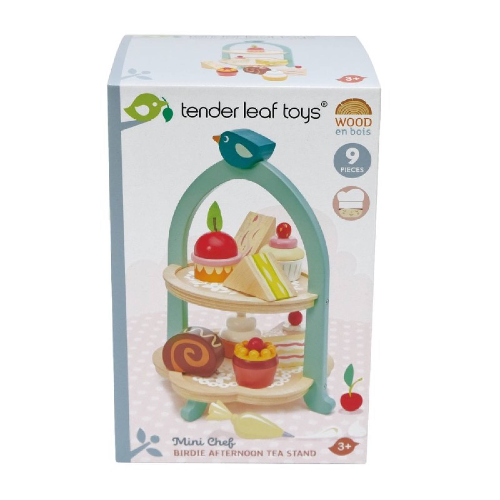 Birdie Afternoon Tea Stand Wooden Play Food Set 3+ thumbnails