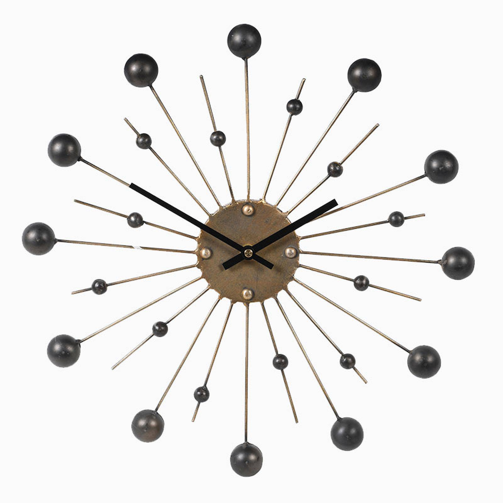 Black And Gold Atomic Style Clock