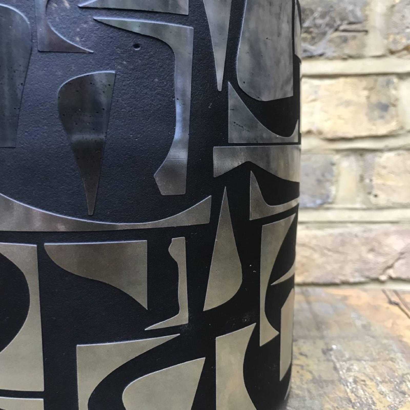 Black & Gold Abstract Glass Vase Planter thumbnails