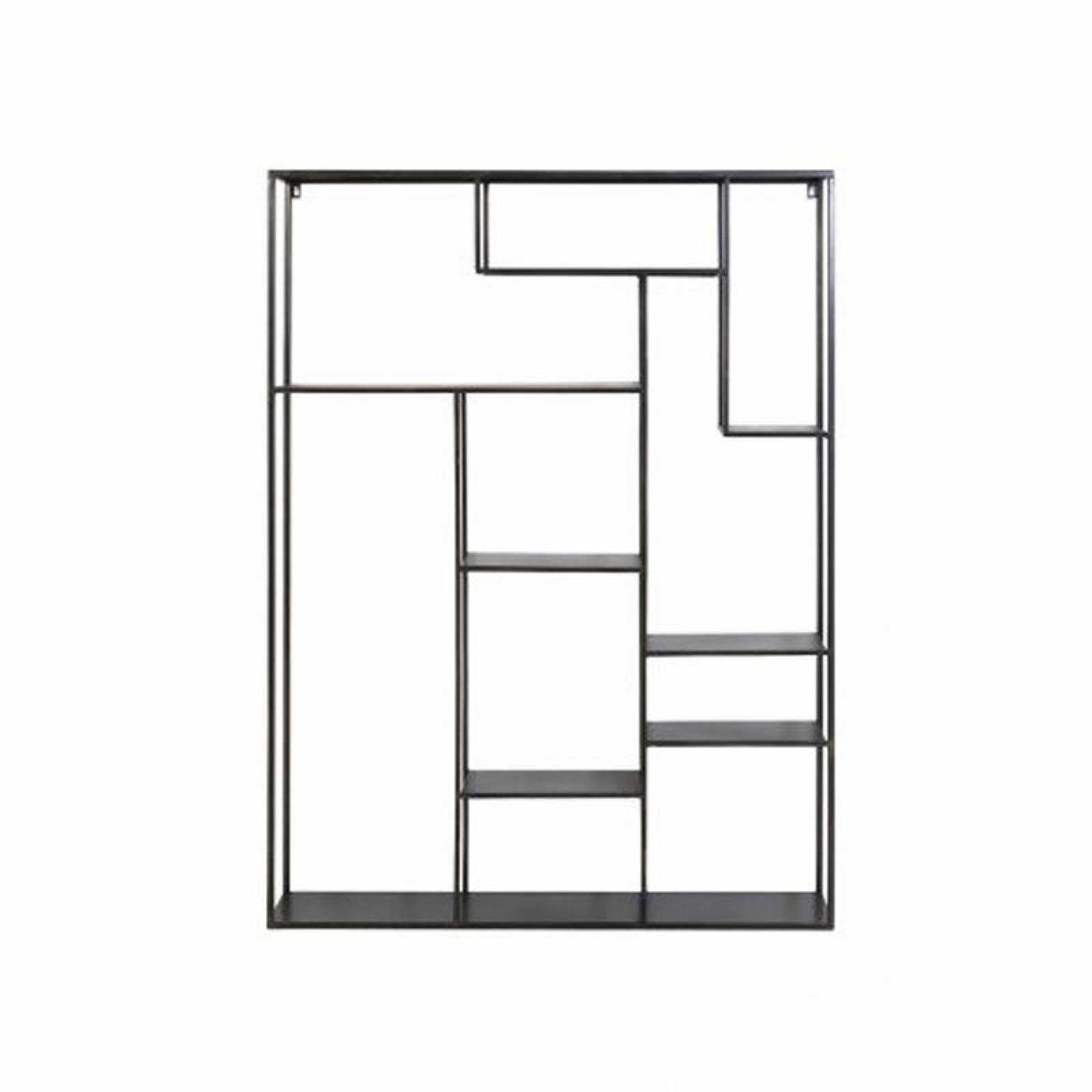 Black Metal Geometric Wall Shelf Unit thumbnails