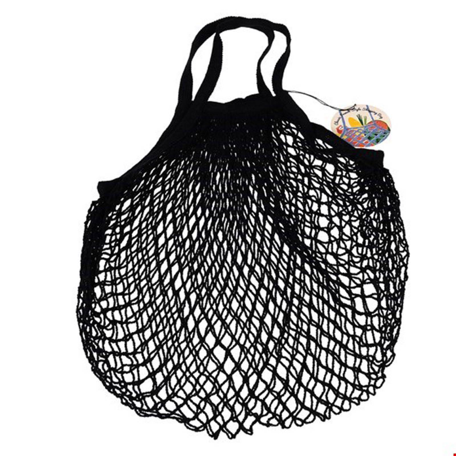 Black String Shopping Bag