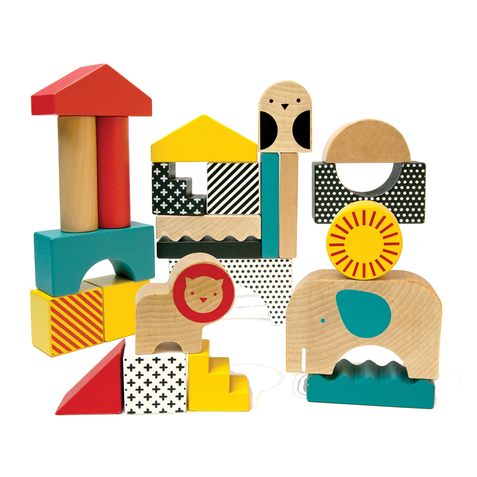 Animal Town Wooden Blocks By Petit Collage 18m+