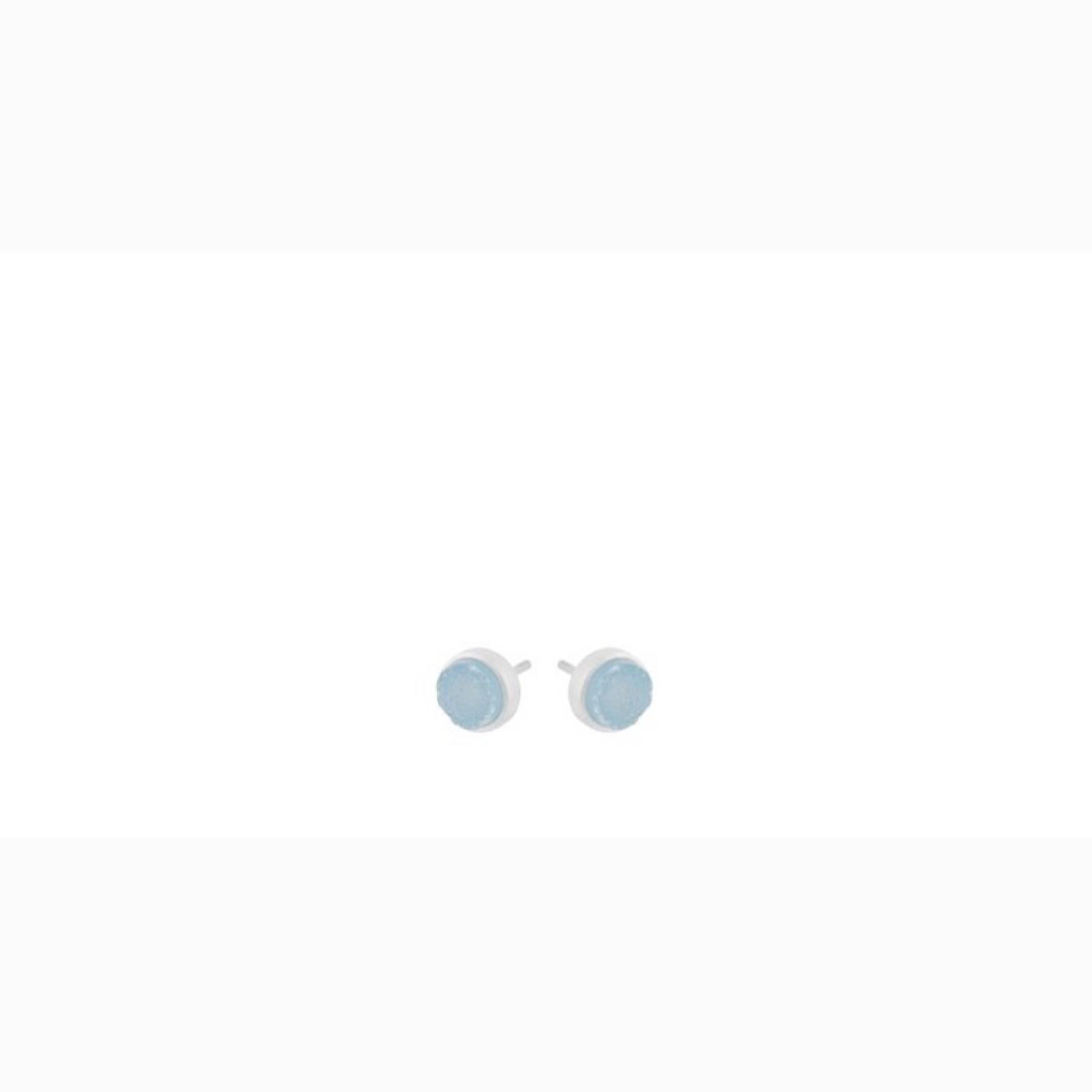 Blue Druzy Stud Earrings In Silver By Pernille Corydon