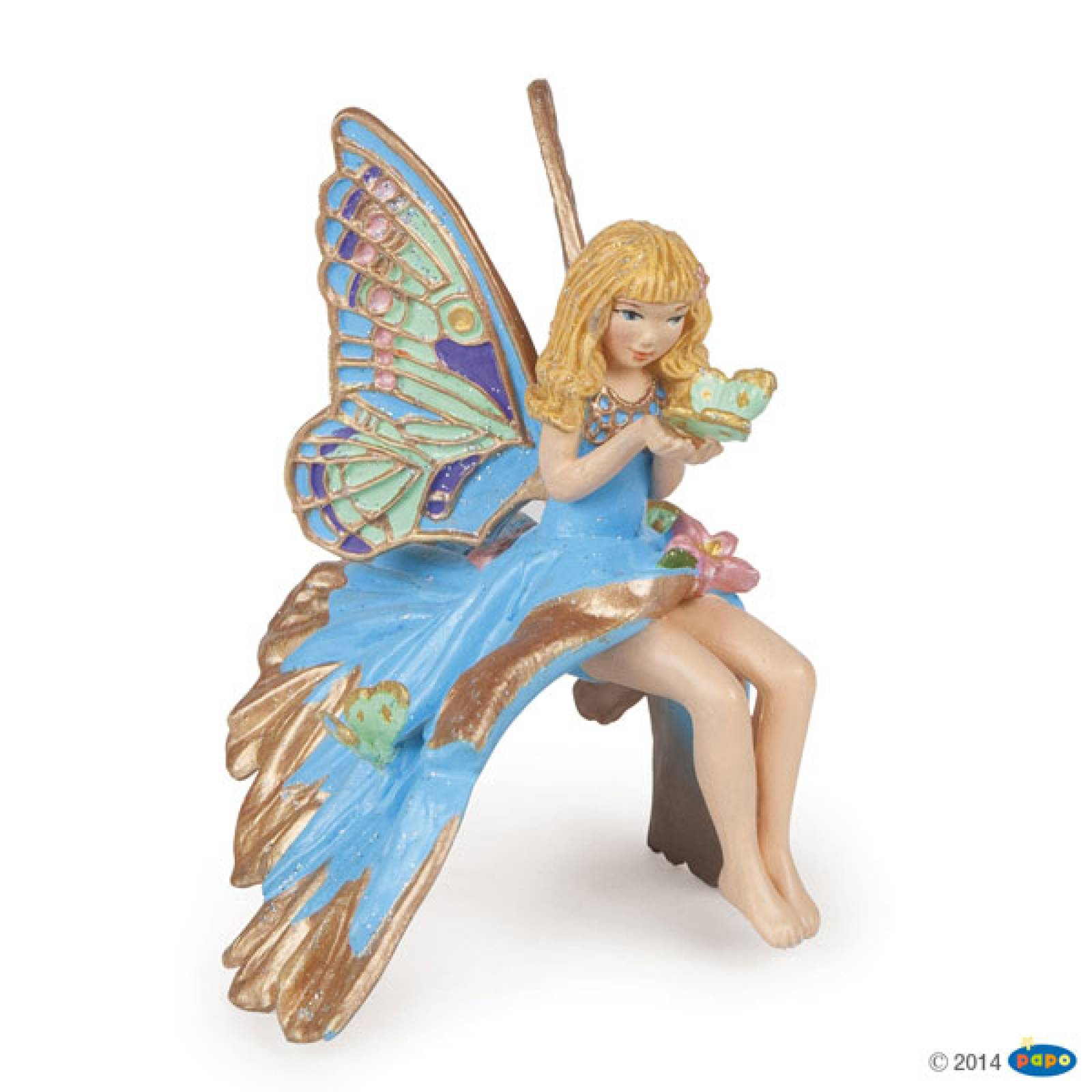 BLUE ELF CHILD Papo Fairy Figure
