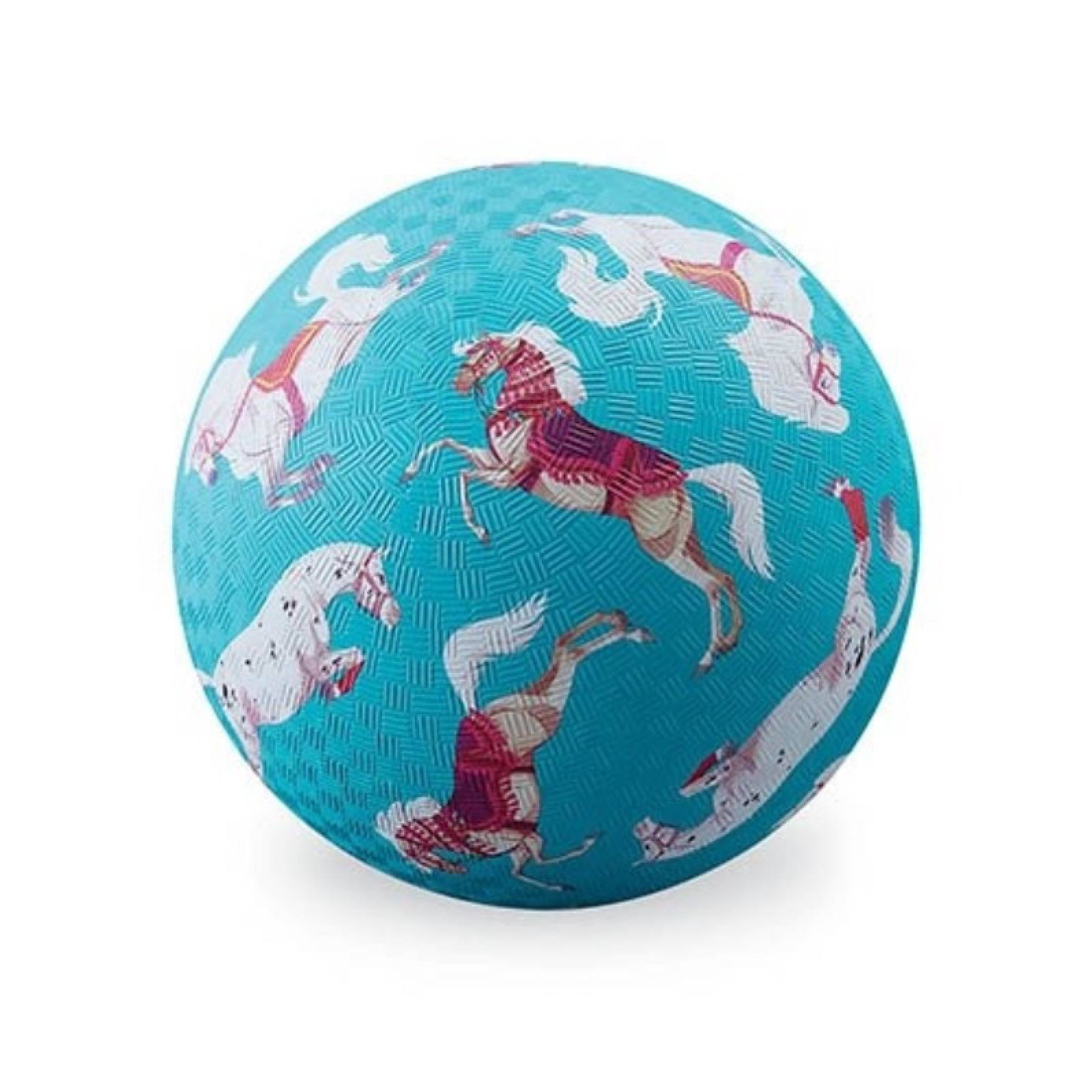 Blue Horses - Large Rubber Picture Ball 18cm