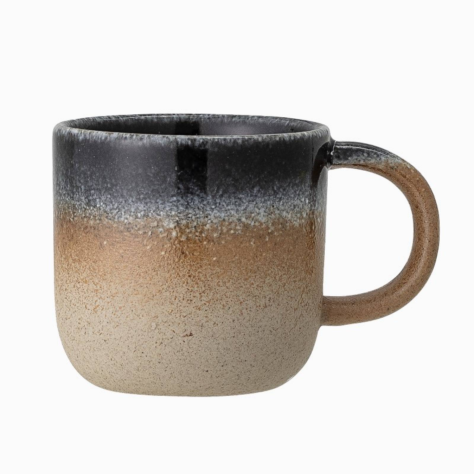 Blue & Orange Glazed Porcelain Mug