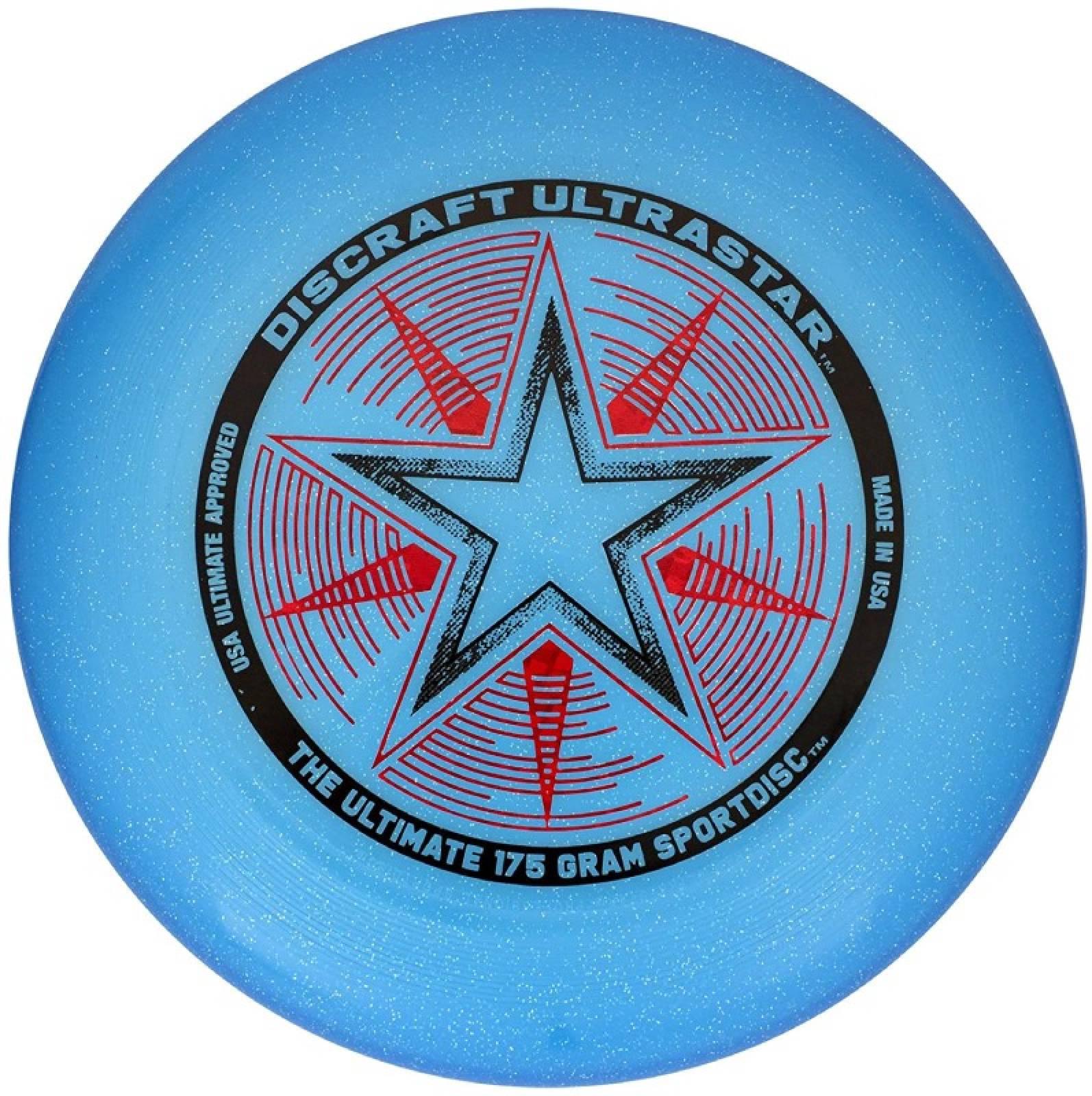 Blue Sparkle Discraft Ultra Star Frisbee