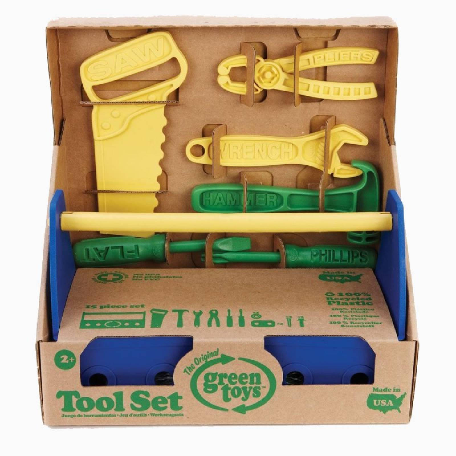 Blue Tool Kit By Green Toys 2+
