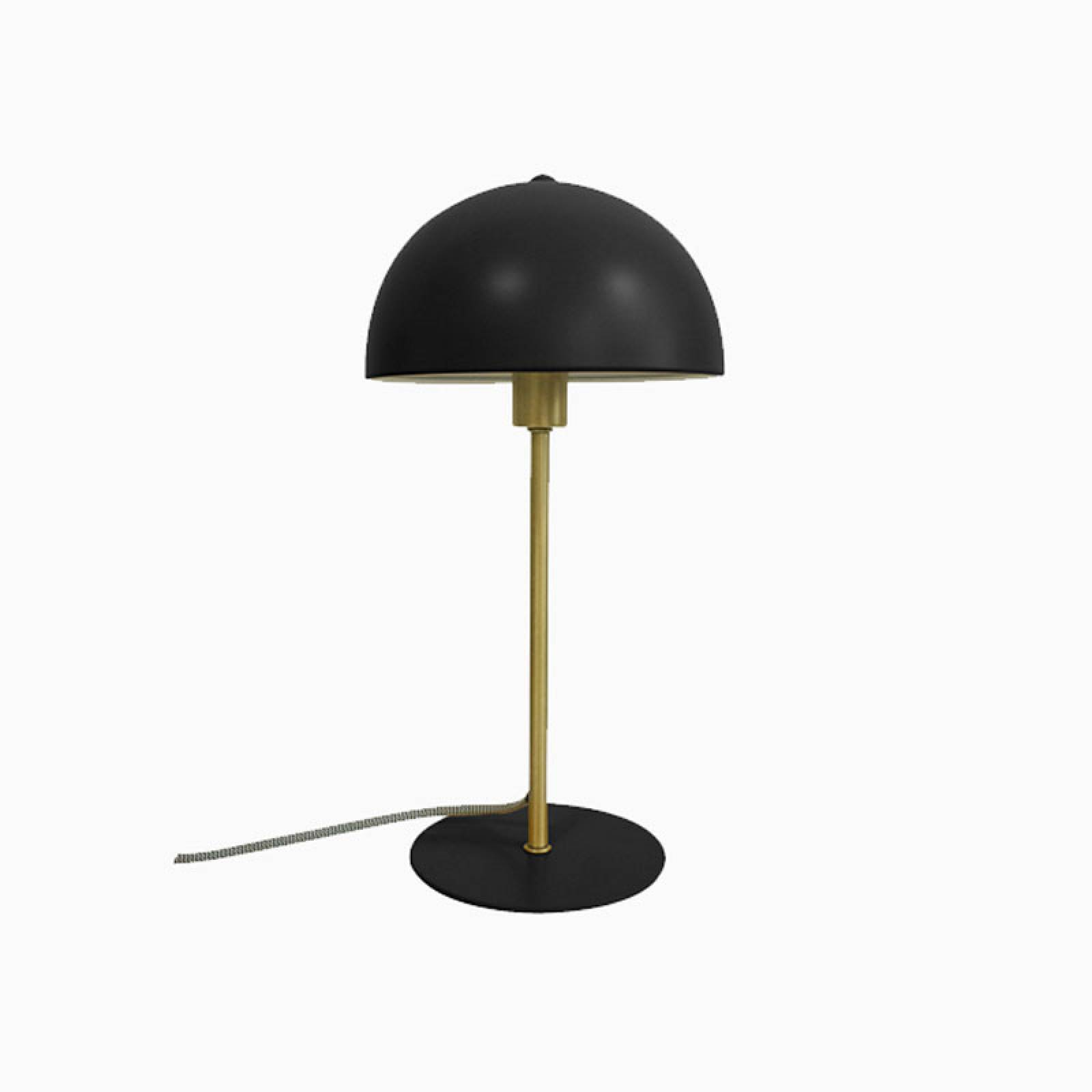 Bonnet Metal Table Lamp In Matt Black