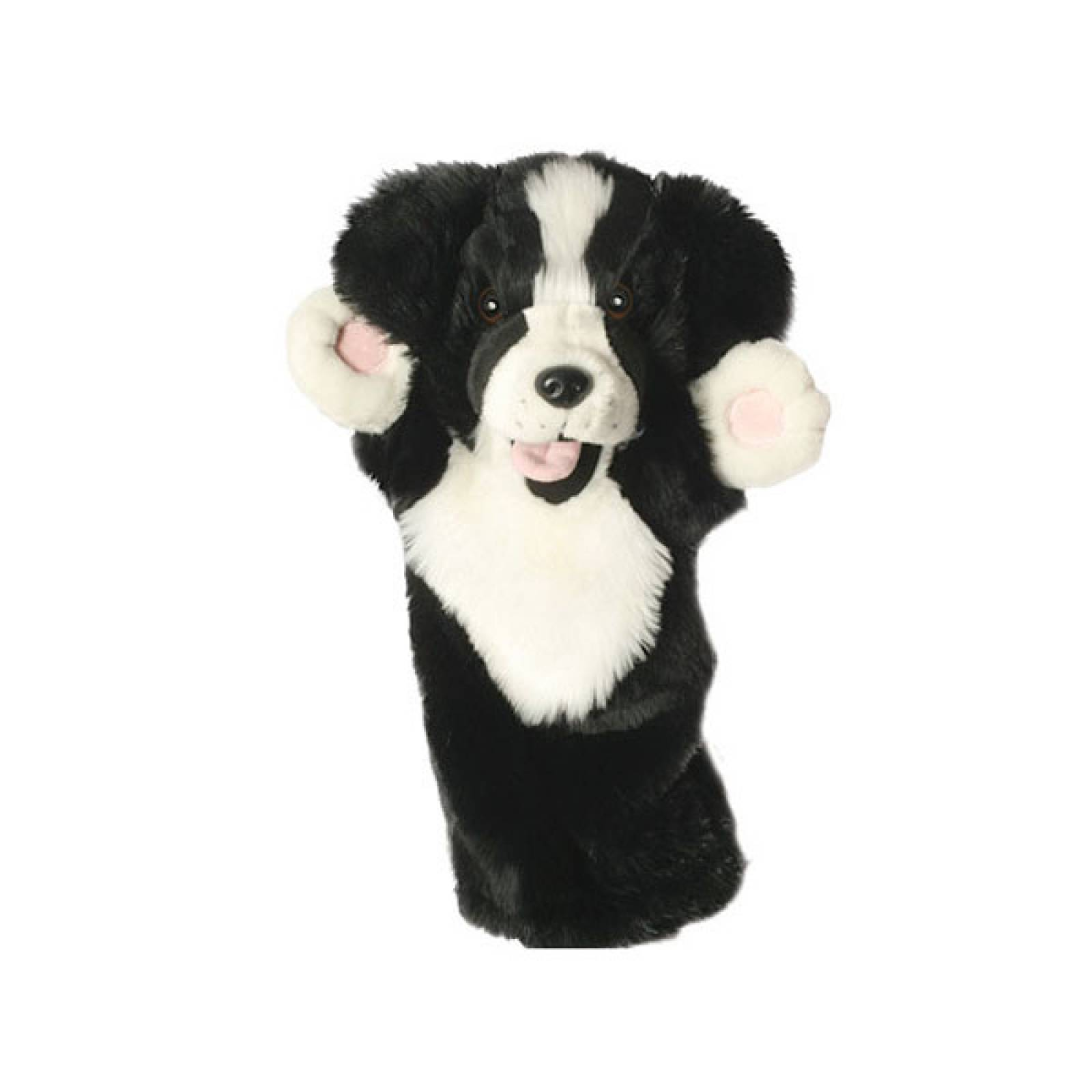 BORDER COLLIE DOG Long Sleeved Glove Puppet