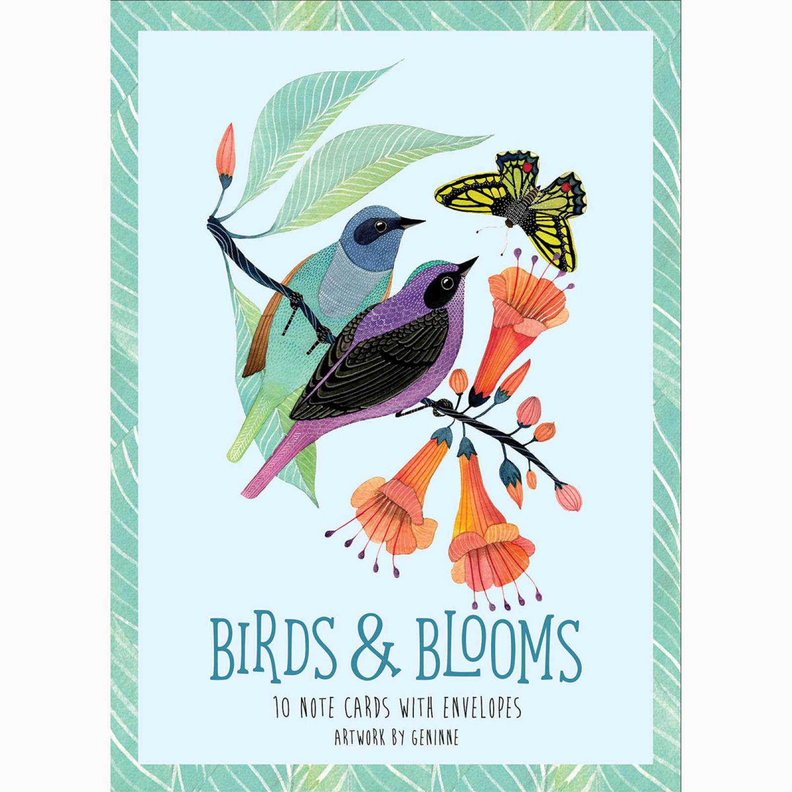 Birds & Blooms - Boxed Set Of 10 Notecards WIth Envelopes thumbnails