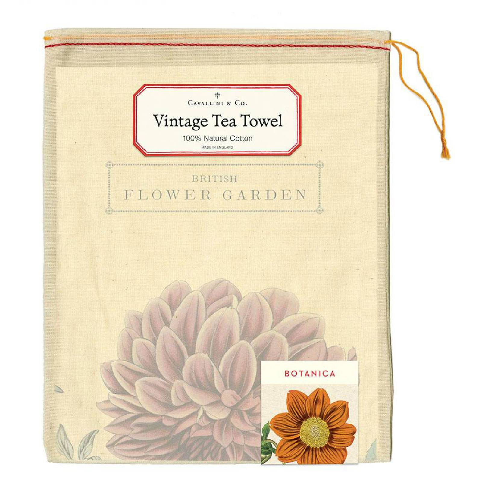 Botanica Garden Flowers Cotton Tea Towel With Gift Bag thumbnails