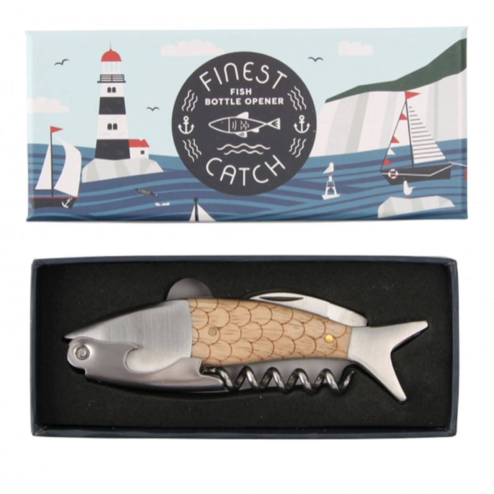 Fish Corkscrew & Bottle Opener Boxed Finest Catch