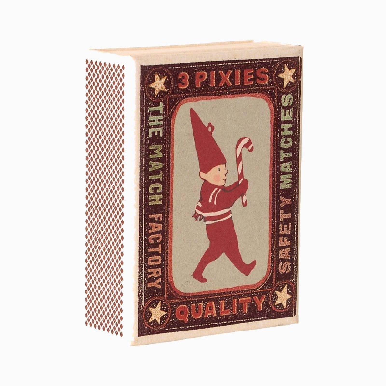 Box Of 3 Pixies Metal Christmas Decorations thumbnails