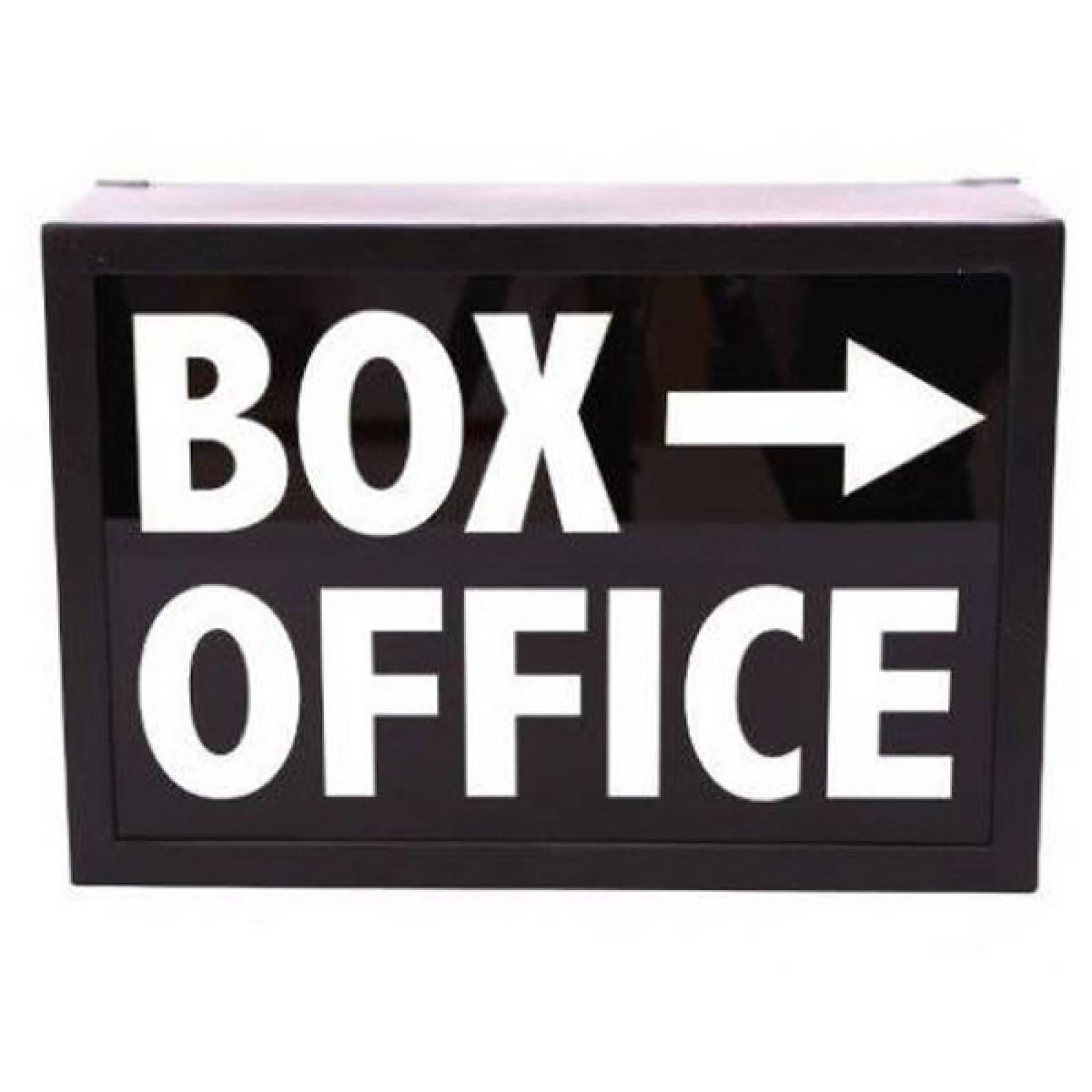 Box Office Illuminated Sign Wall Mount Box Sign