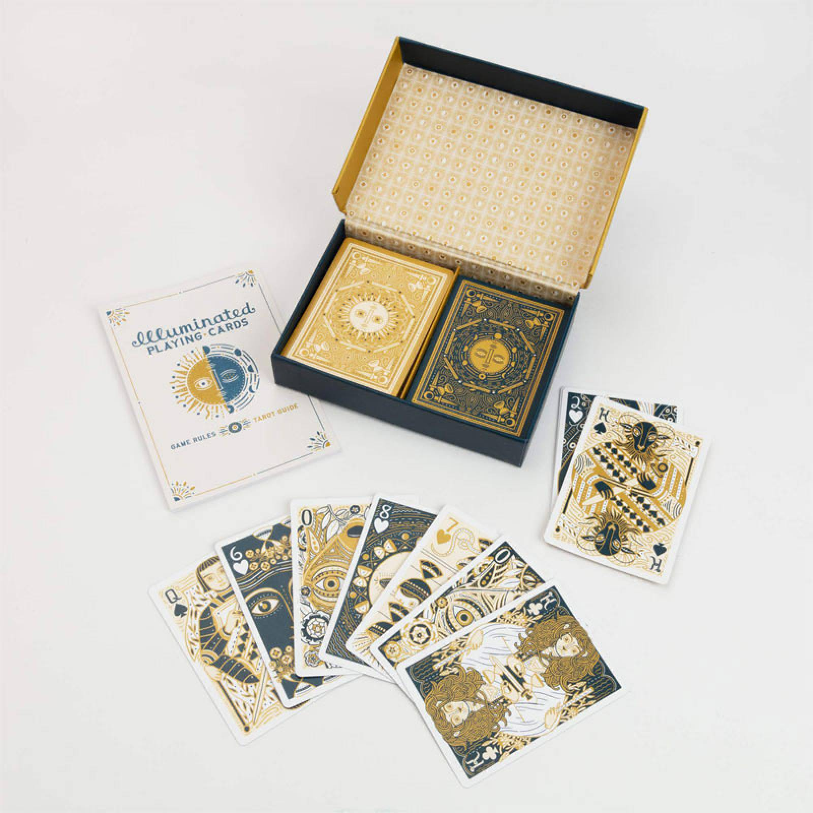 Boxed Set Of Illuminated Playing Cards
