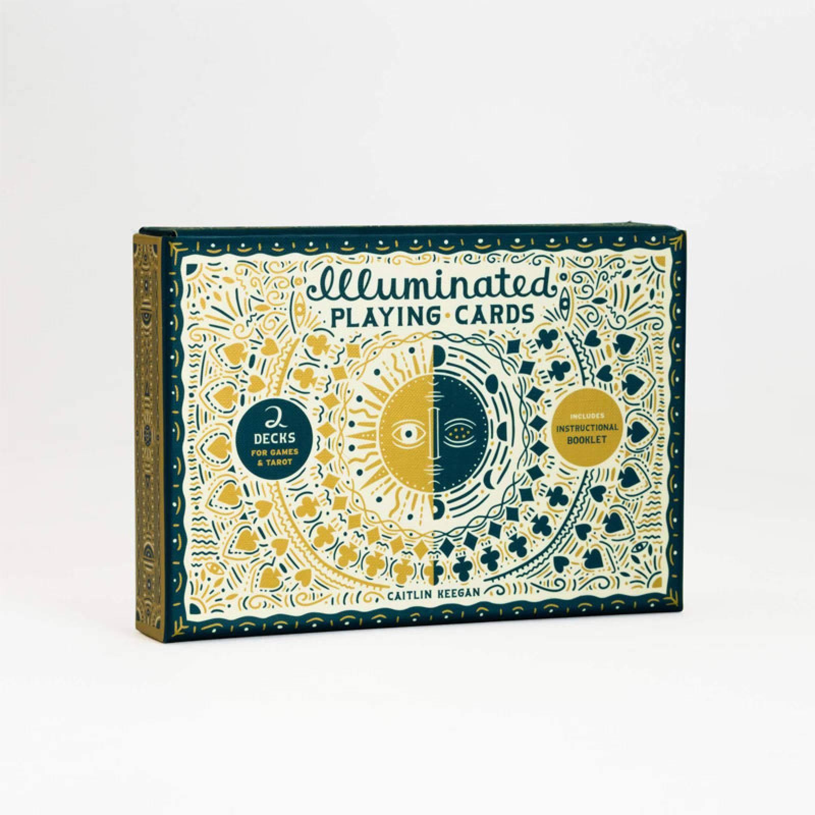 Boxed Set Of Illuminated Playing Cards
