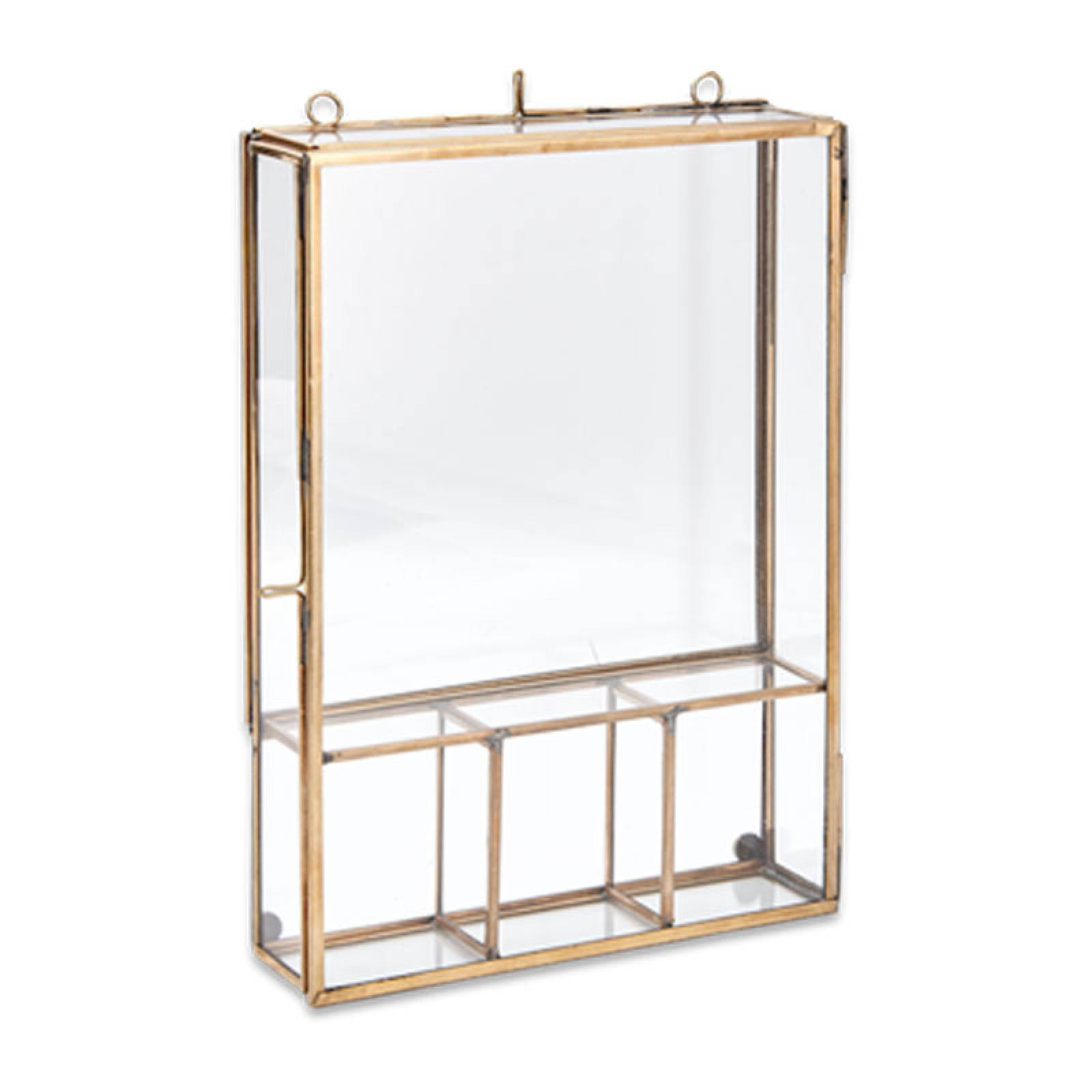 Kiko Brass And Glass Wall Mounting Photo Box thumbnails