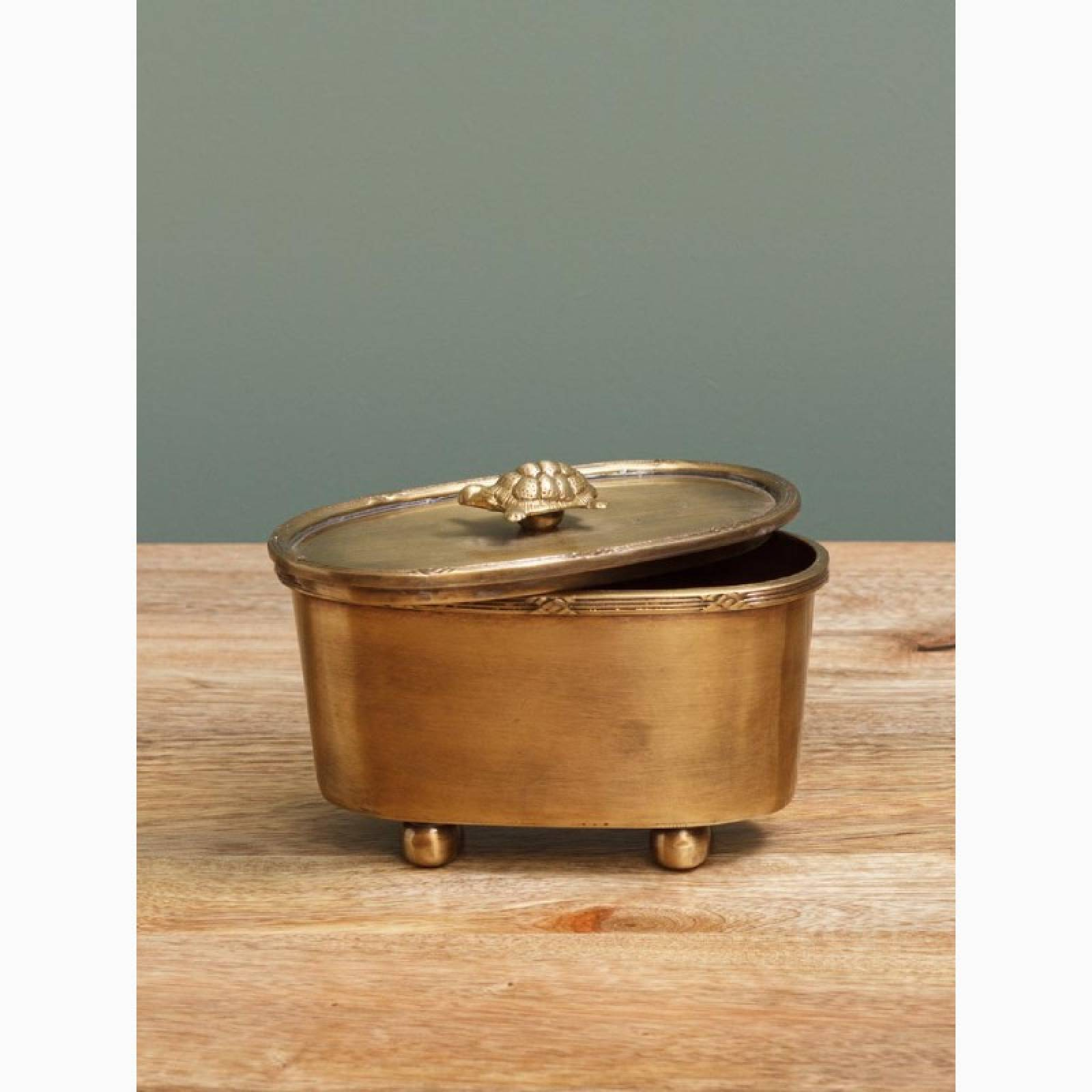 Brass Trinket Box With Turtle Lid thumbnails