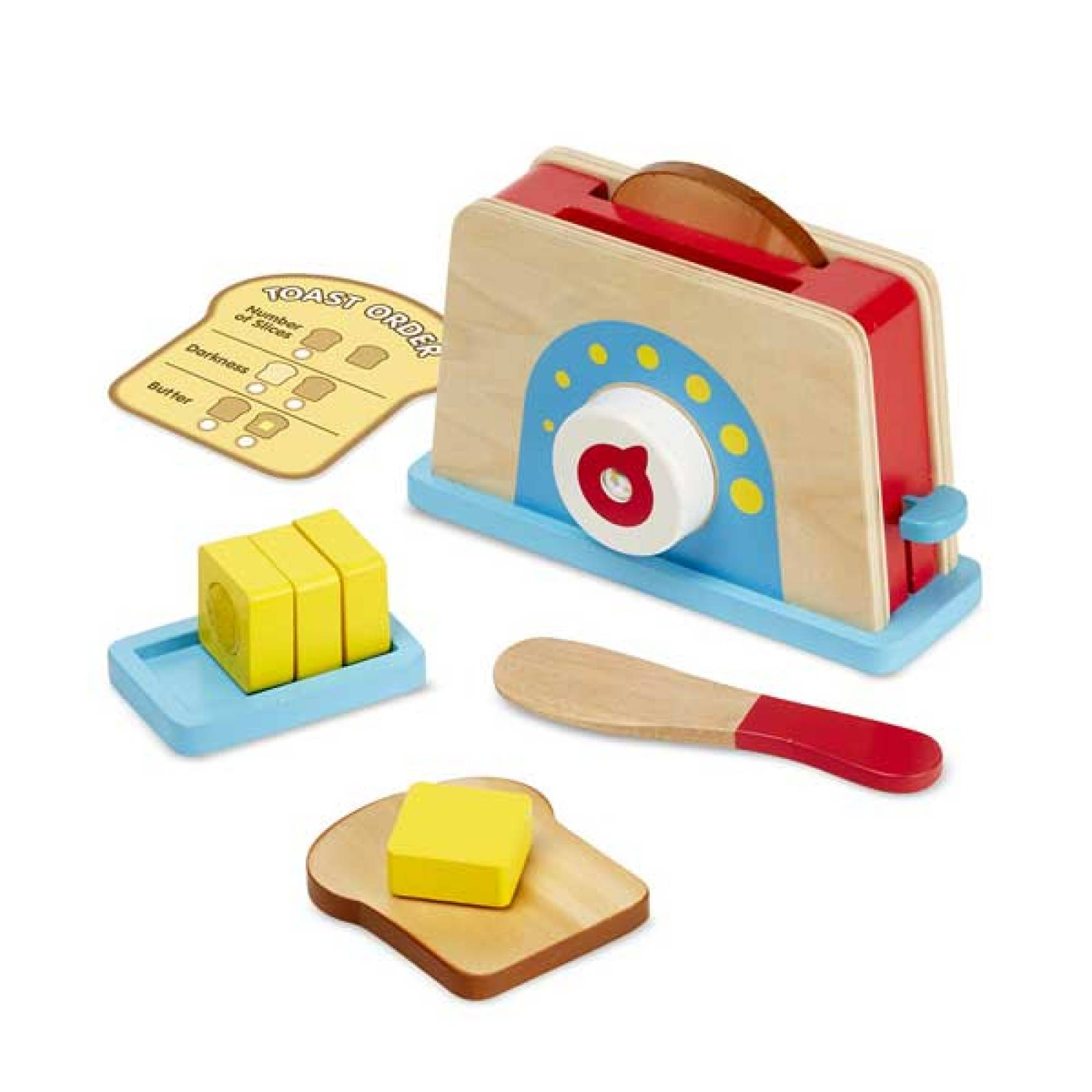 Wooden Bread And Butter Toast Set Melissa & Doug 3+ thumbnails