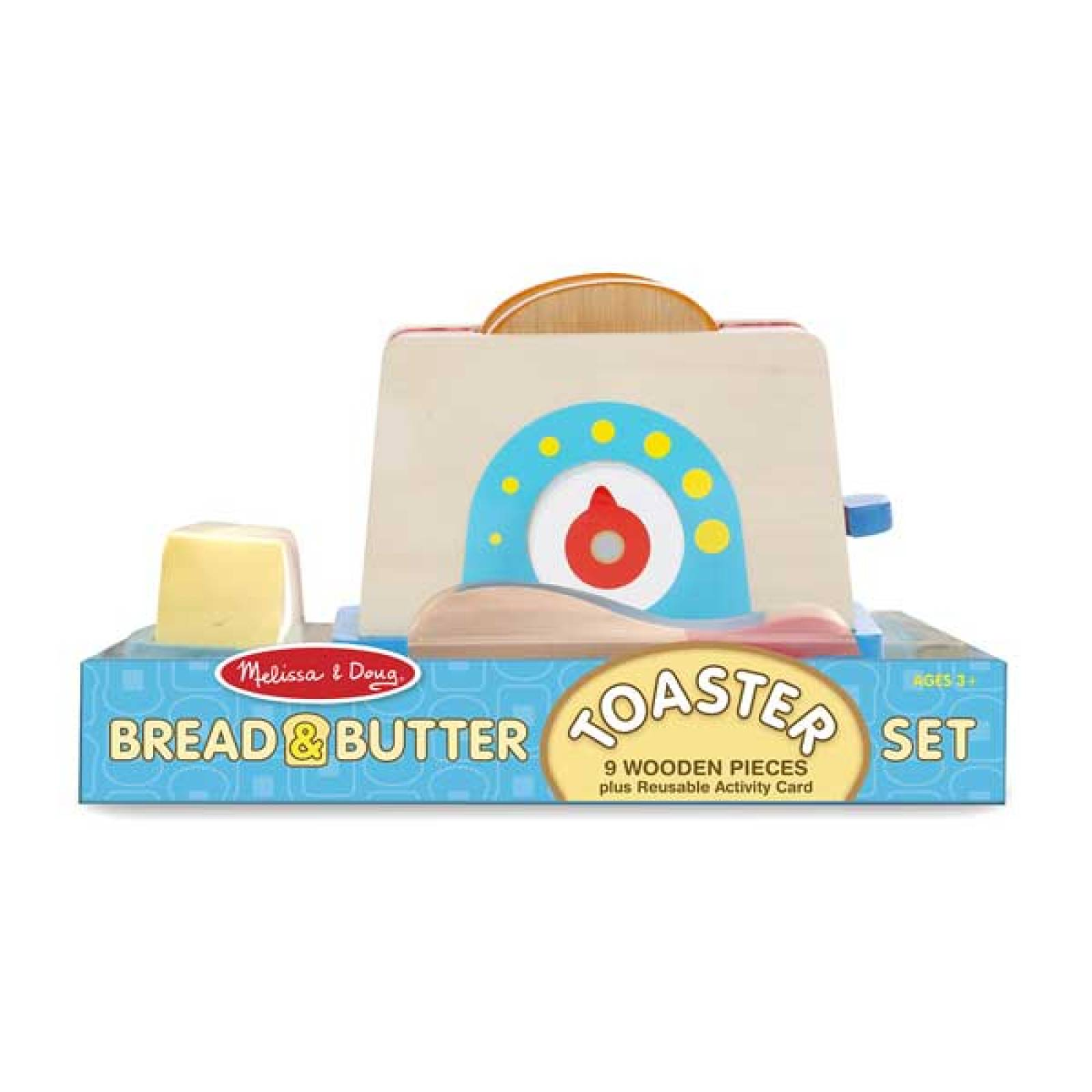 Wooden Bread And Butter Toast Set Melissa & Doug 3+