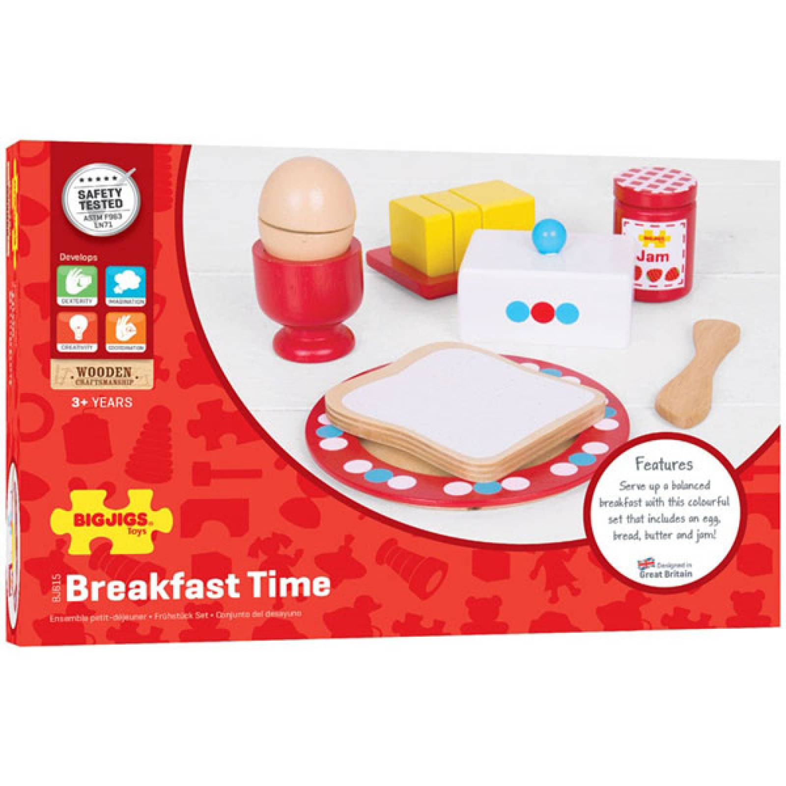 Breakfast Time Wooden Food Play Set 3+ thumbnails