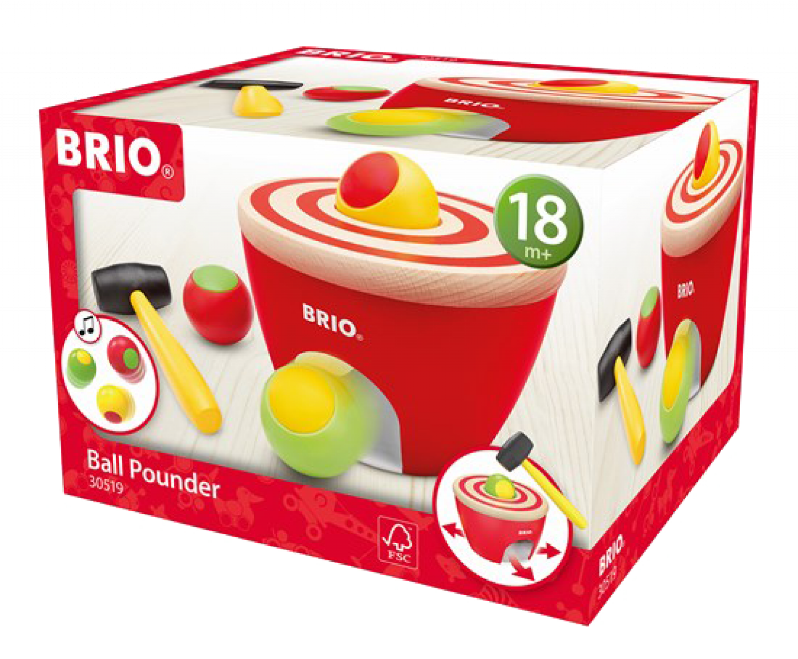 Wooden Ball Pounder By BRIO® 18m+ thumbnails