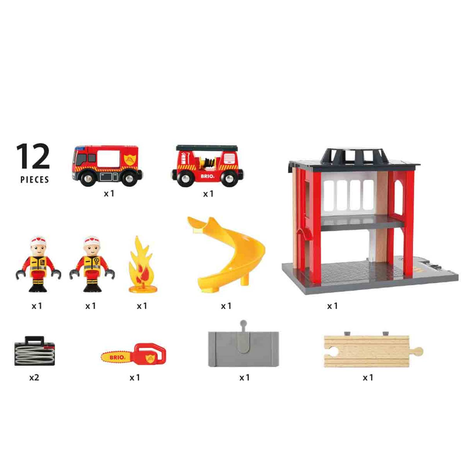 Fire Station BRIO® Wooden Railway Age 3+ thumbnails