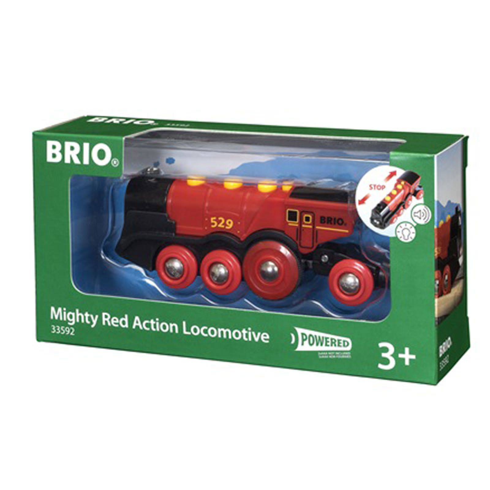 Mighty Red Action Locomotive Train BRIO® Wooden Railway Age 3+ thumbnails