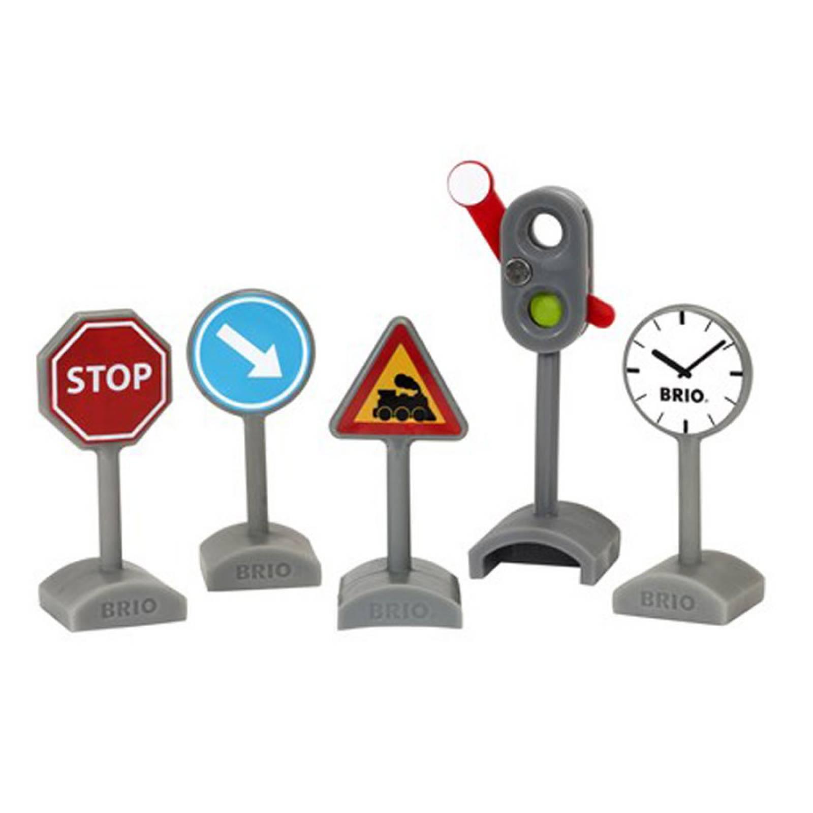Traffic Sign Kit BRIO Wooden Railway Age 3+ thumbnails