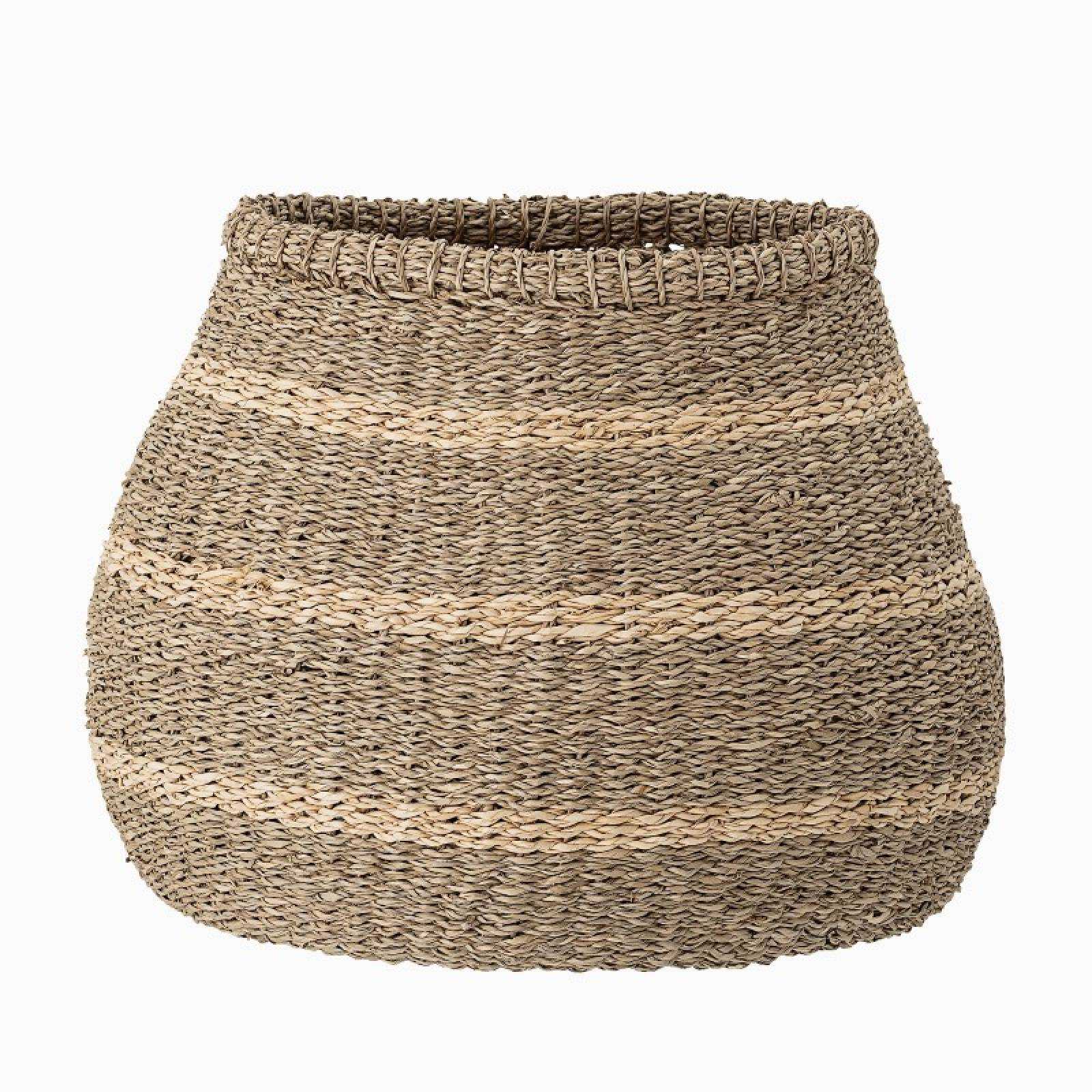 Bulbous Striped Seagrass Basket