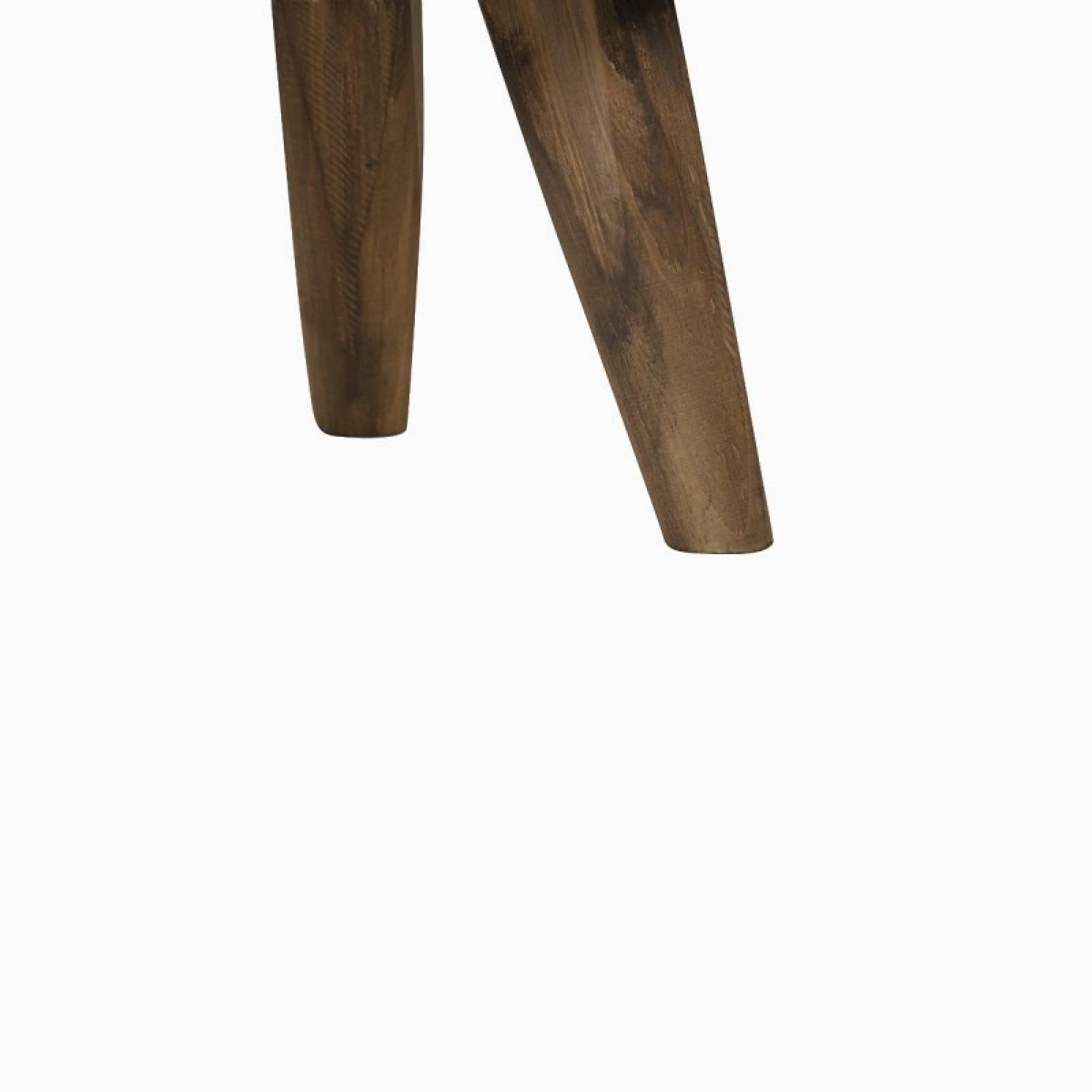 Canya Circular Woven Cane Side Table In Dark thumbnails