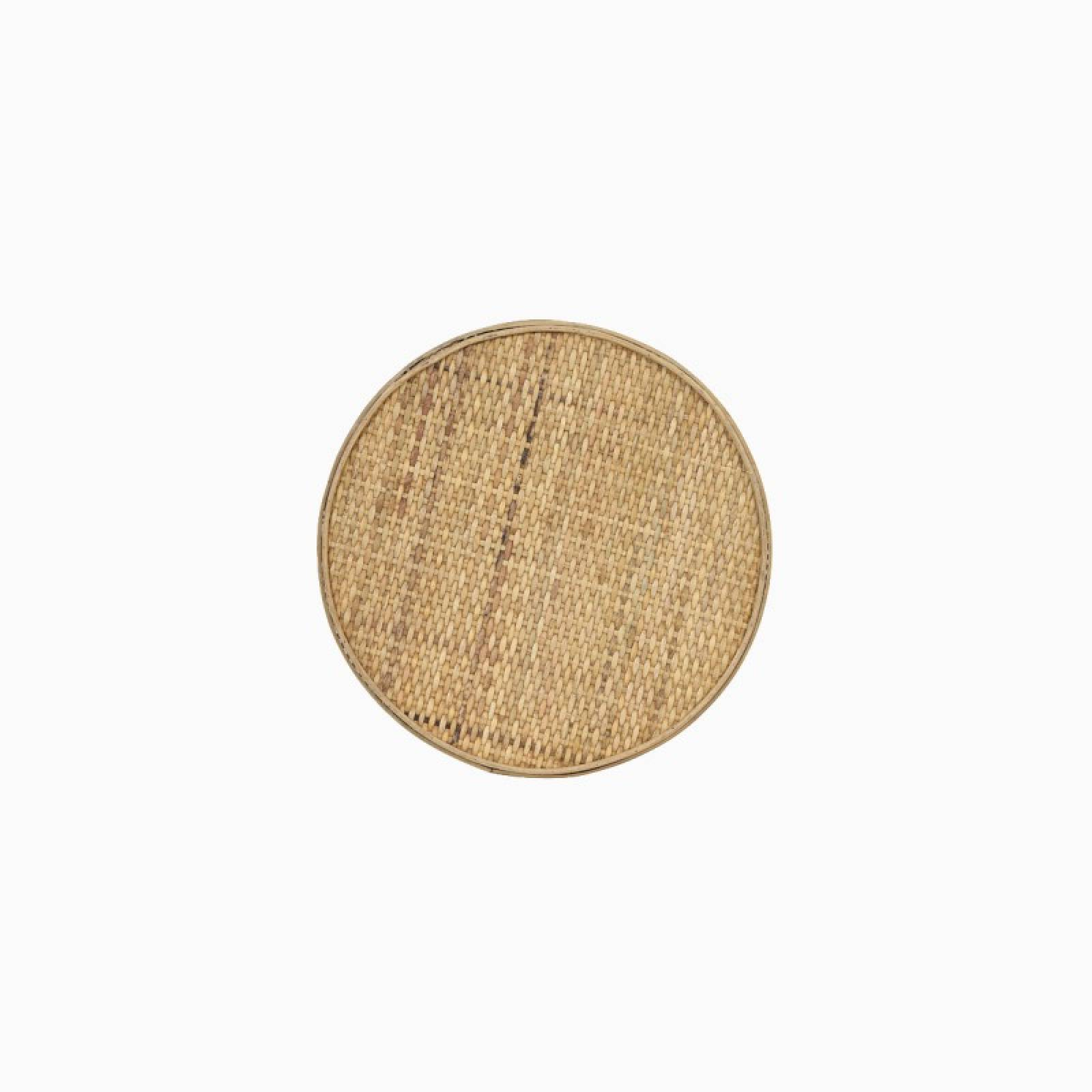 Canya Circular Woven Cane Side Table In Natural Cane thumbnails