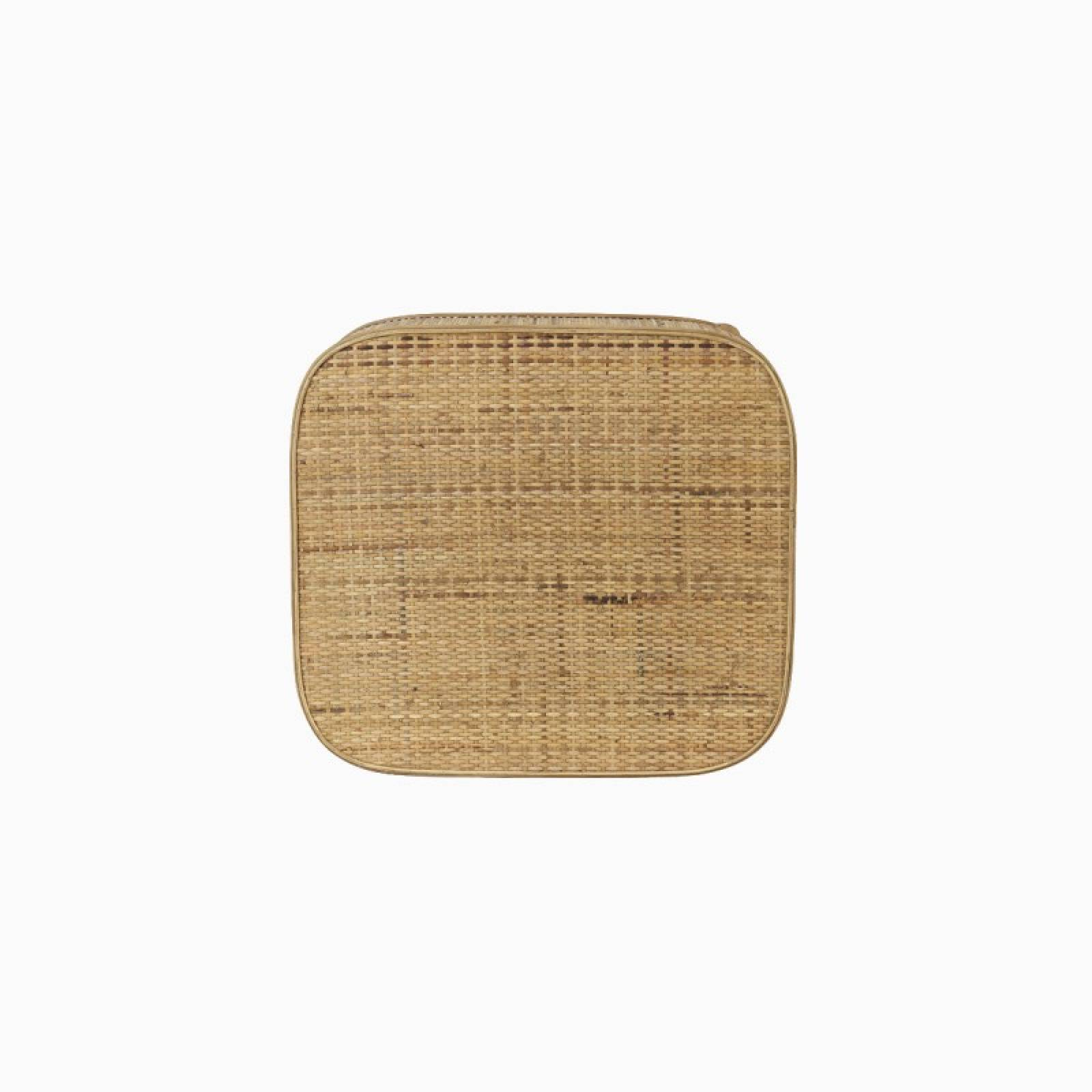 Canya Rectangular Woven Cane Side Table In Natural thumbnails