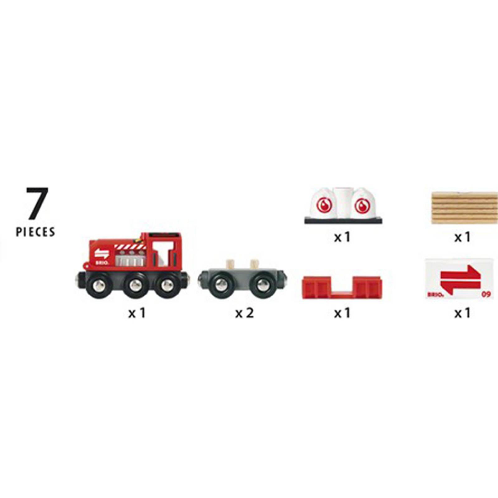 Cargo Train BRIO Wooden Railway Age 3+ thumbnails