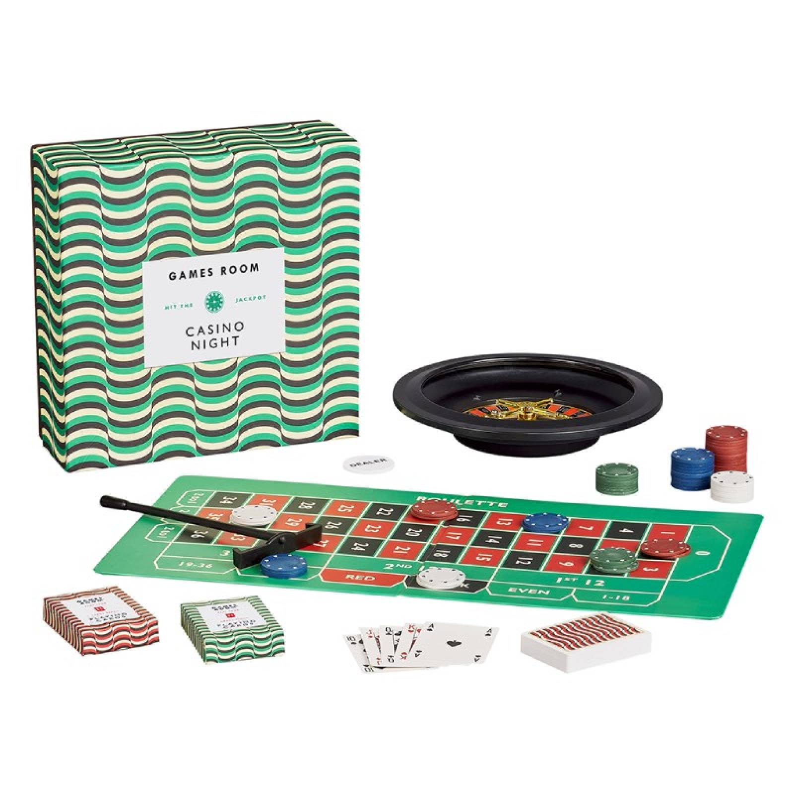 Casino Night Game Set In Retro Box