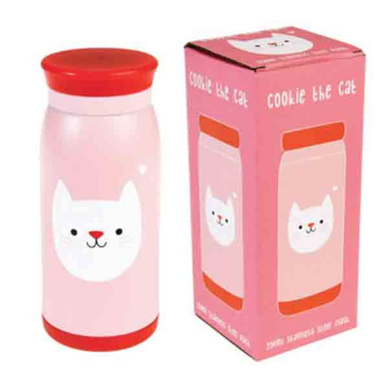 Cat Flask- Stainless Steel