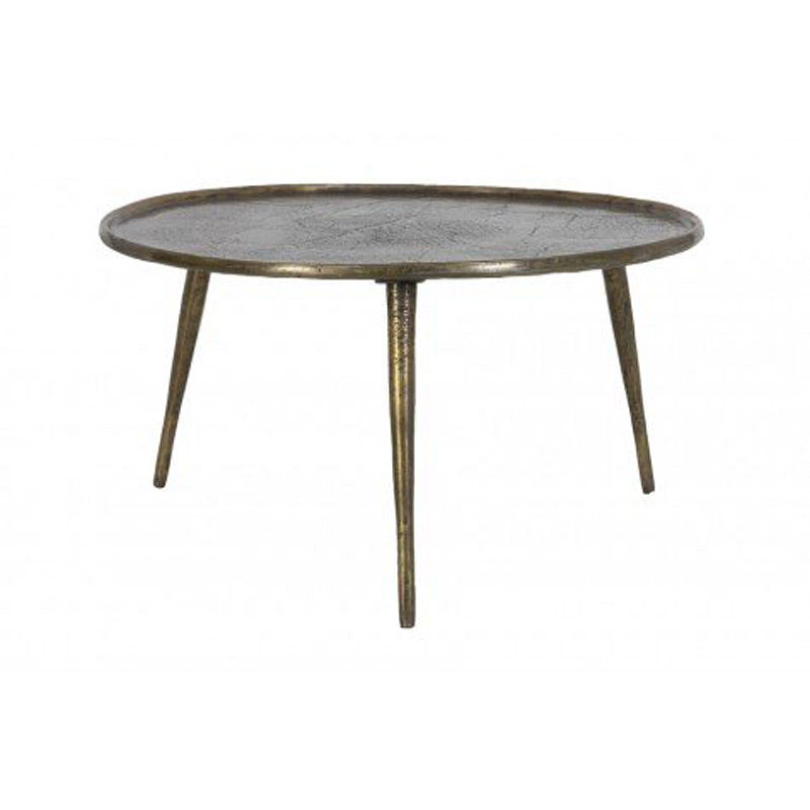 Chak Circular Side Table With Tripod Legs In Bronze 70x40cm