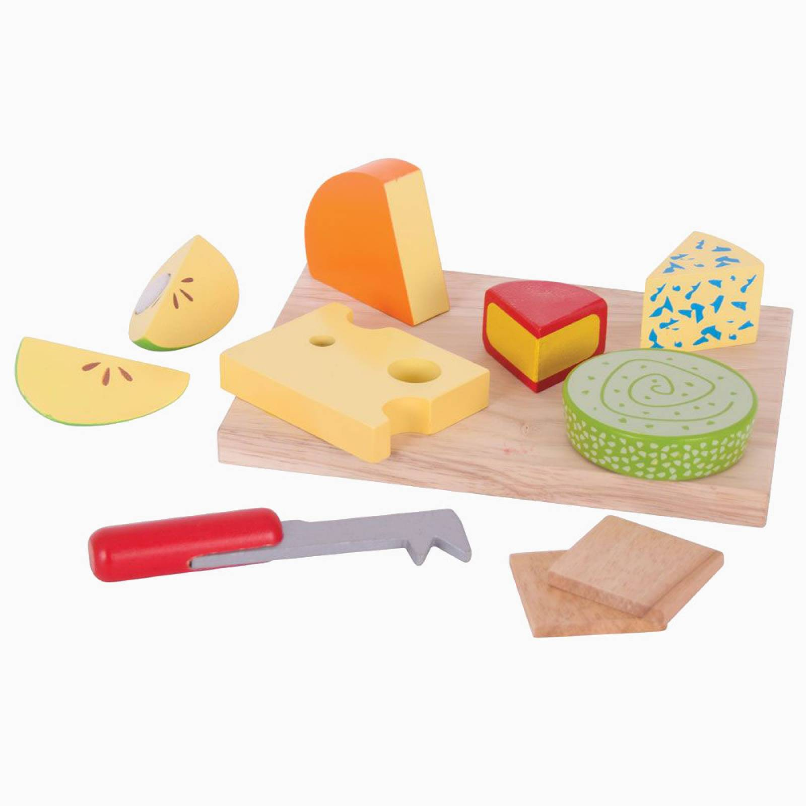 Wooden Cheeseboard Set Play Food