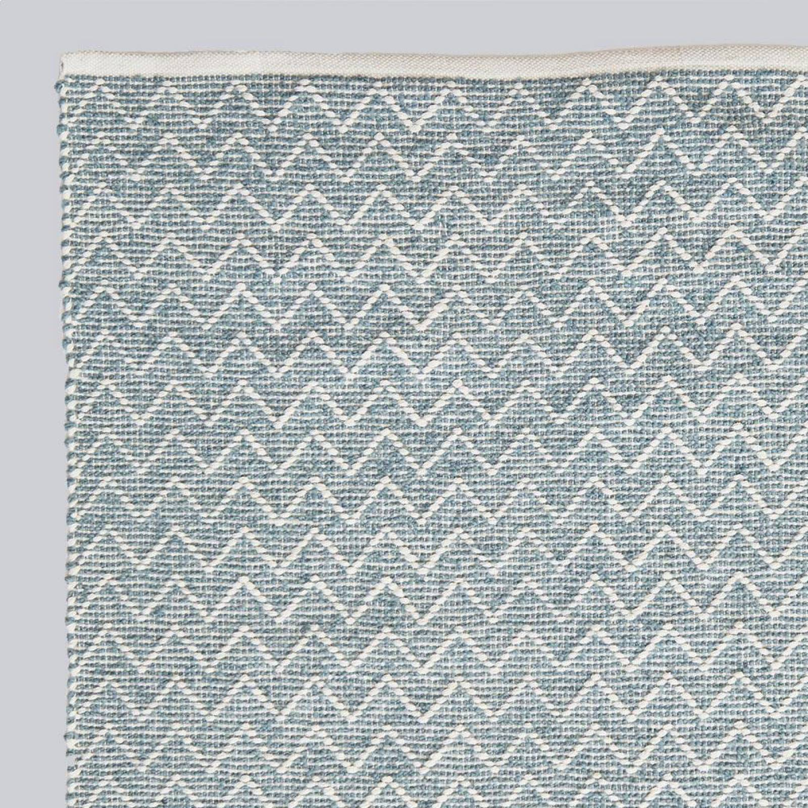 Chenille Teal 240 x 70cm Recycled Bottle Rug