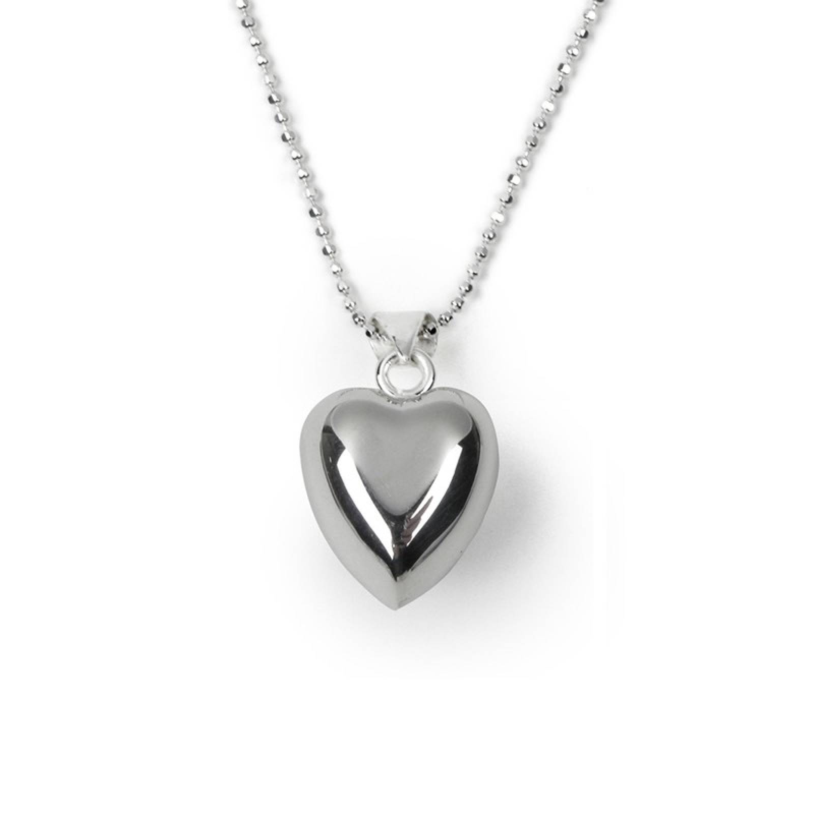 Children's Chiming Heart Necklace - Sterling Silver