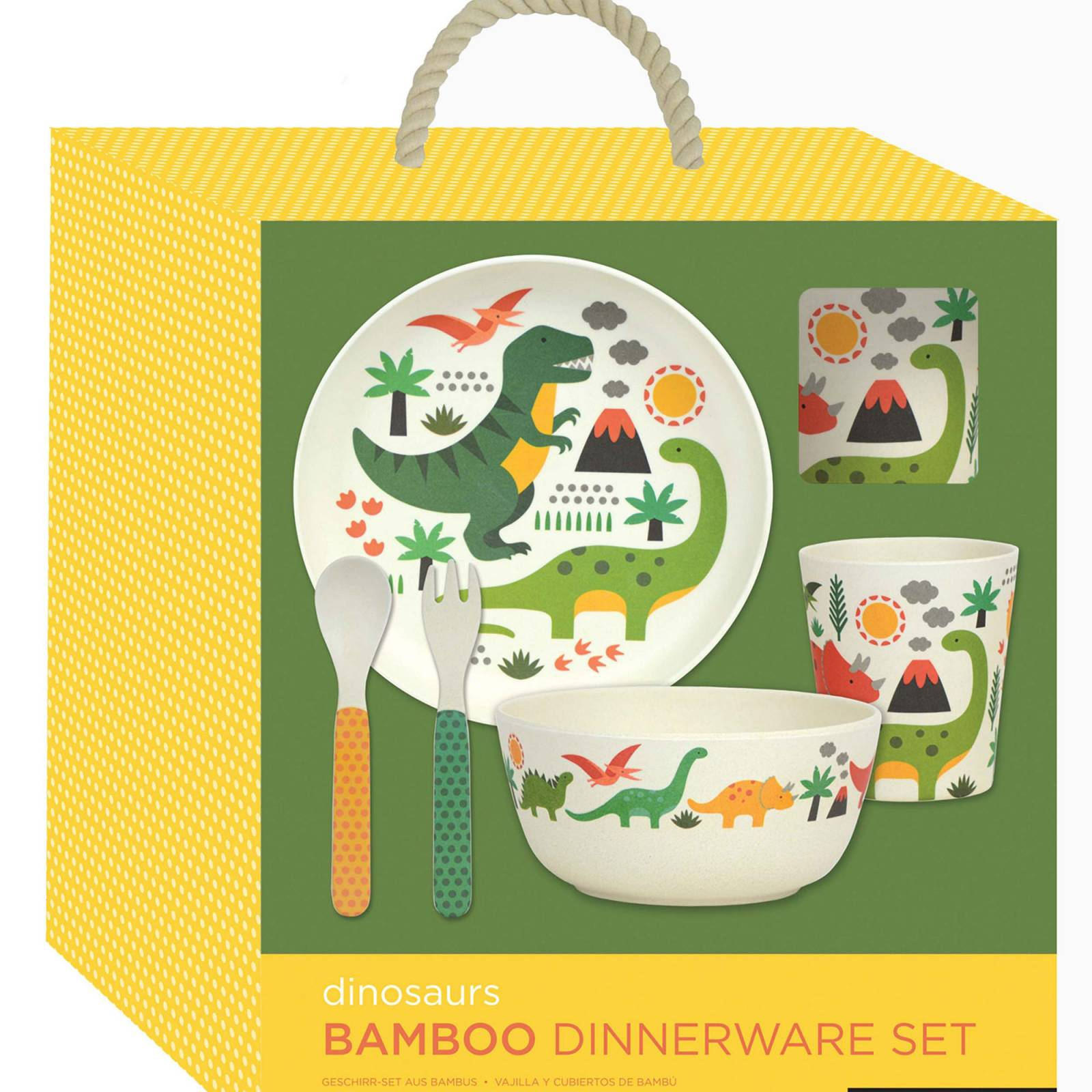 Children's Dinosaur Bamboo Dinnerware Set  By Petit Collage