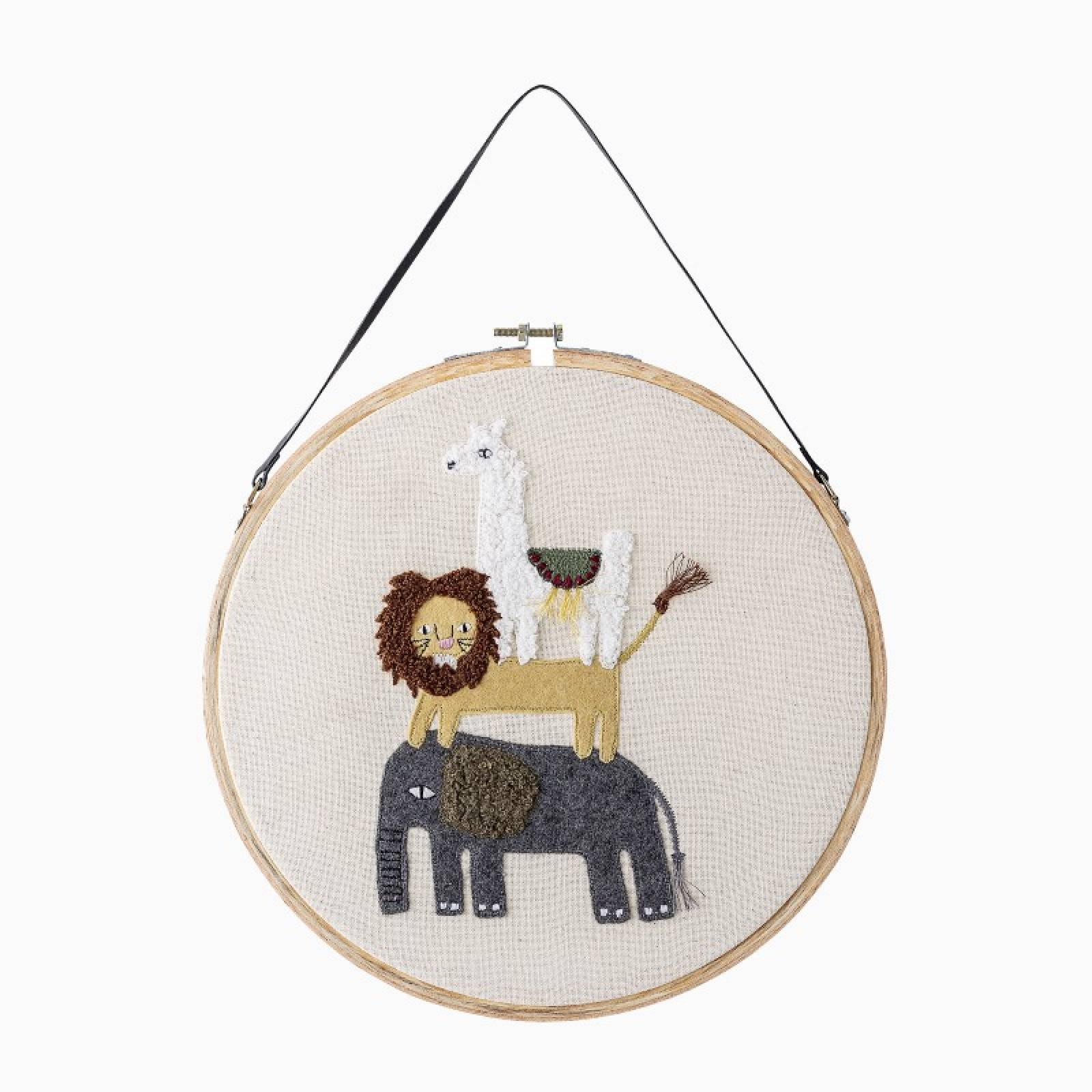 Children's Embroidered Animal Wall Decoration